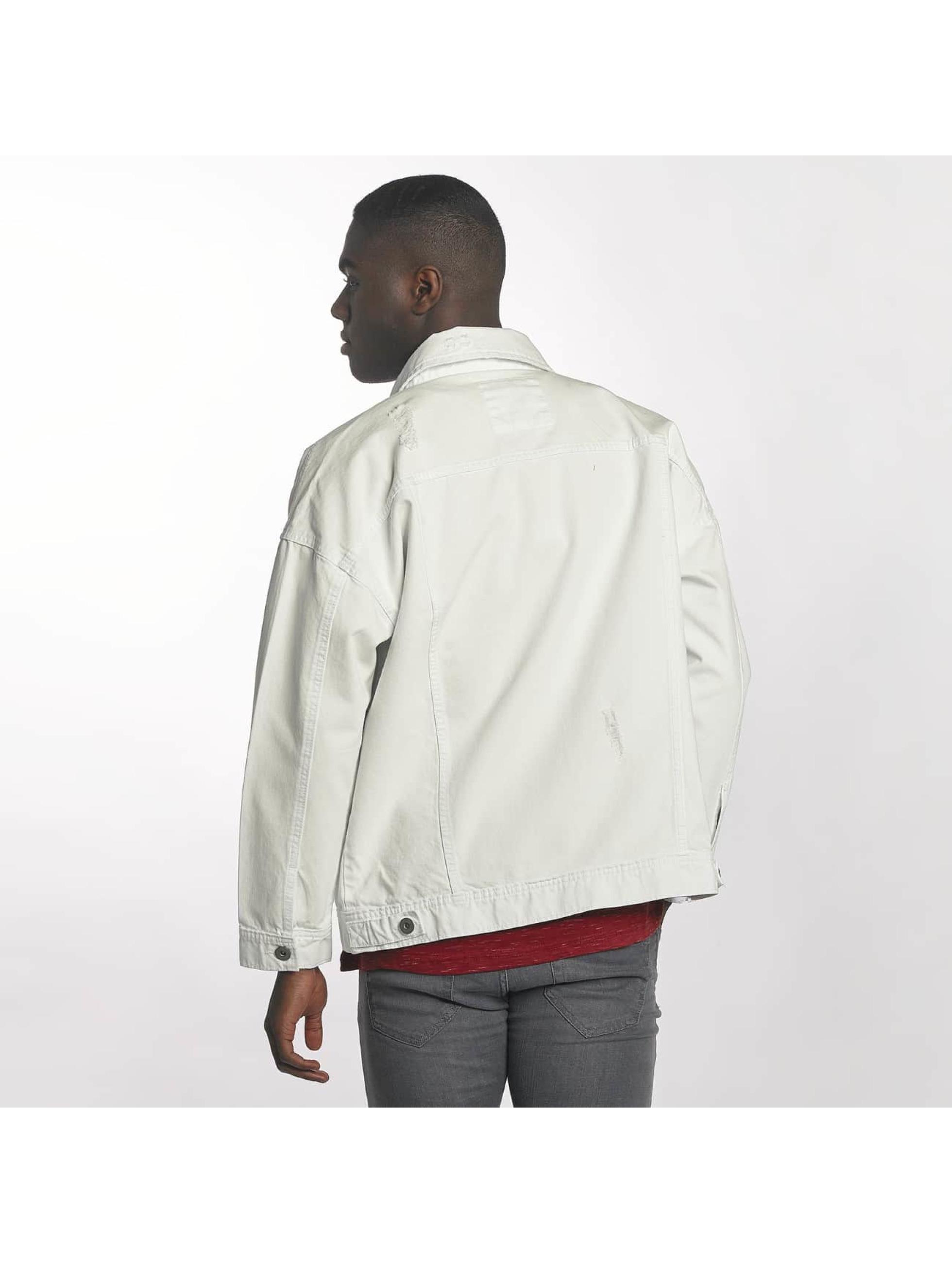 Urban Classics Veste mi-saison légère Ripped Denim blanc