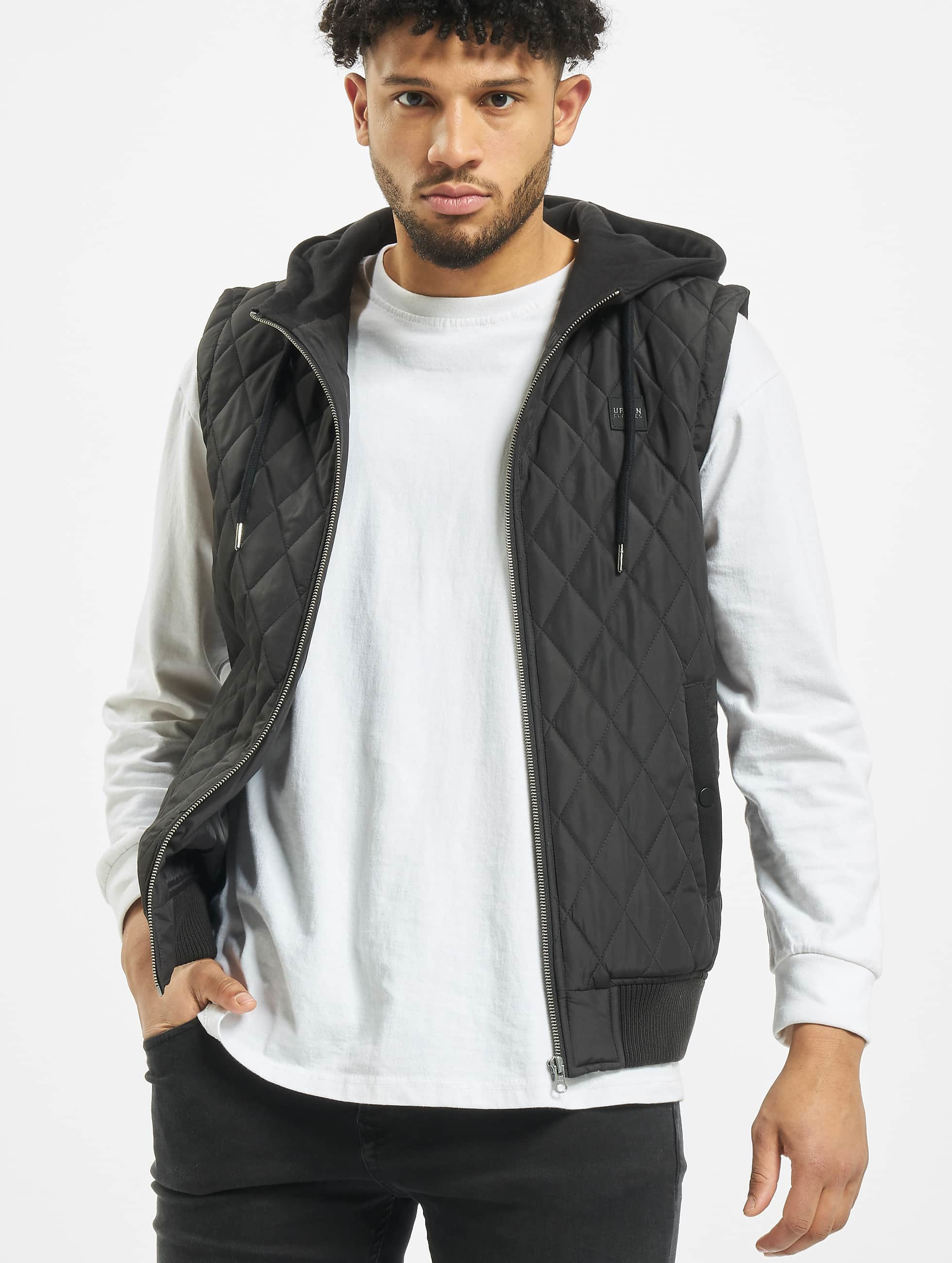 Urban Classics Vesty Diamond Quilted èierna