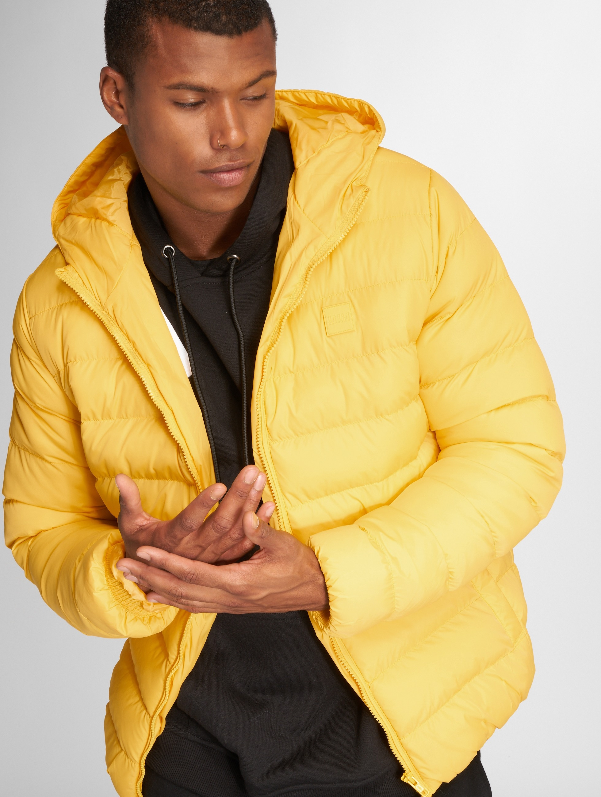 Urban Classics Basic Bubble Jacket Chrome Yellow