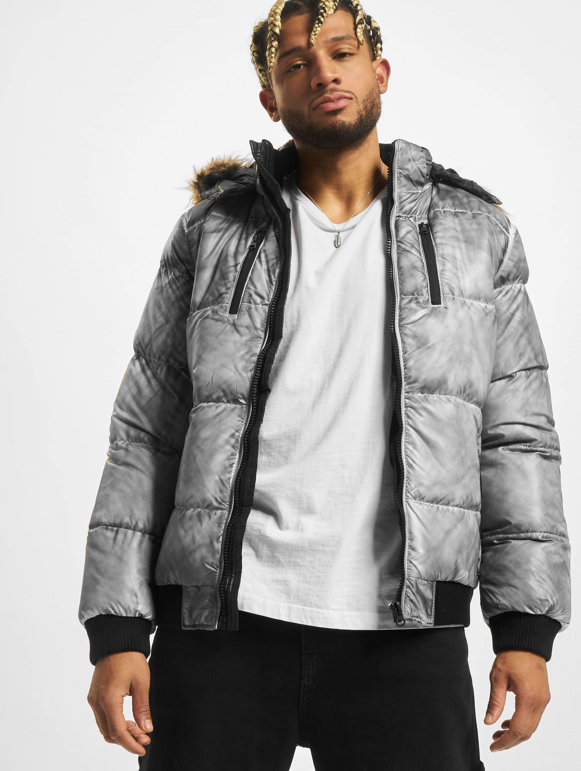 Urban Classics Winterjacke Spray Dye Expedition grau