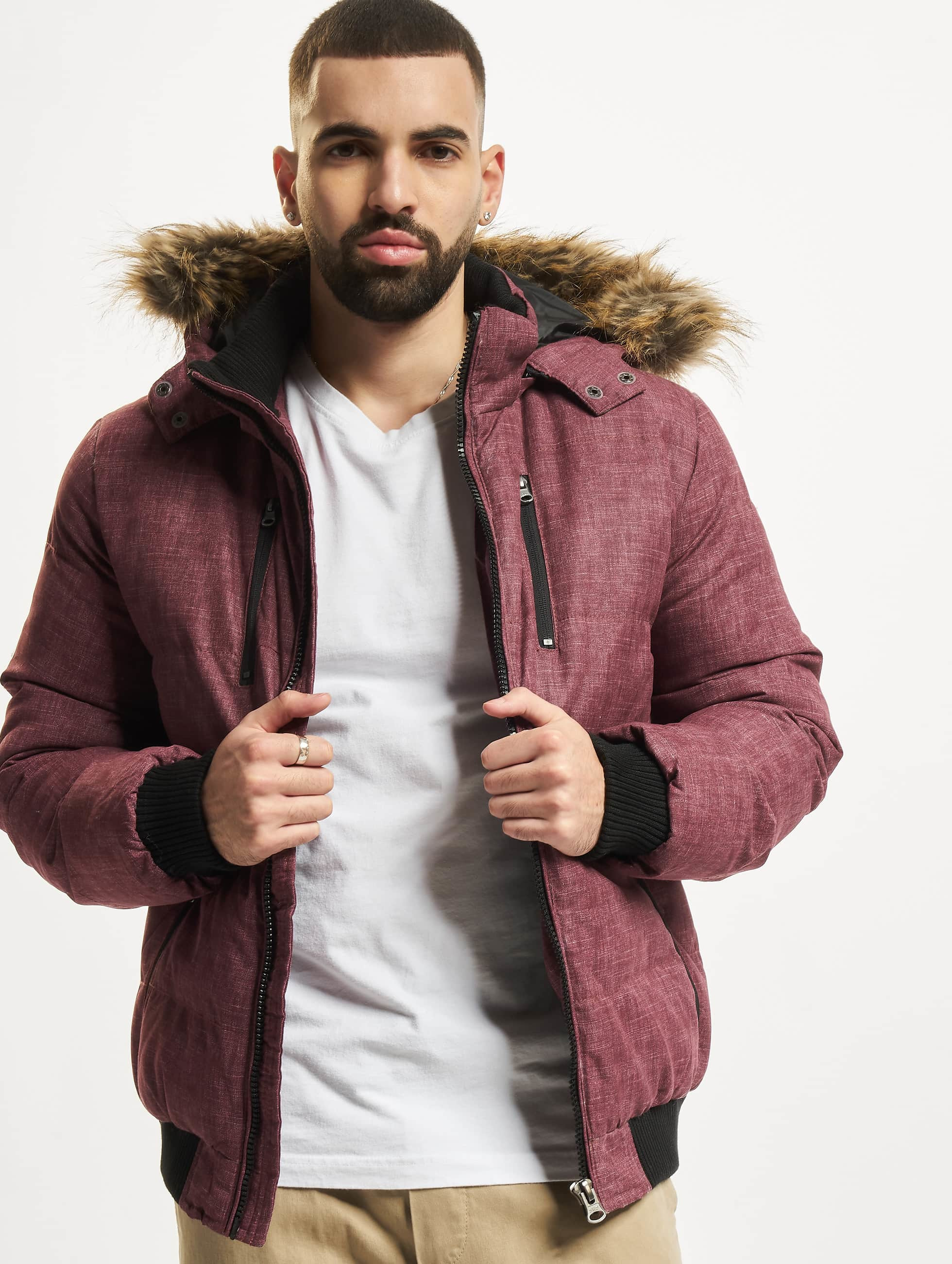 Urban Classics Winterjacke Melange Expedition Bubble rot