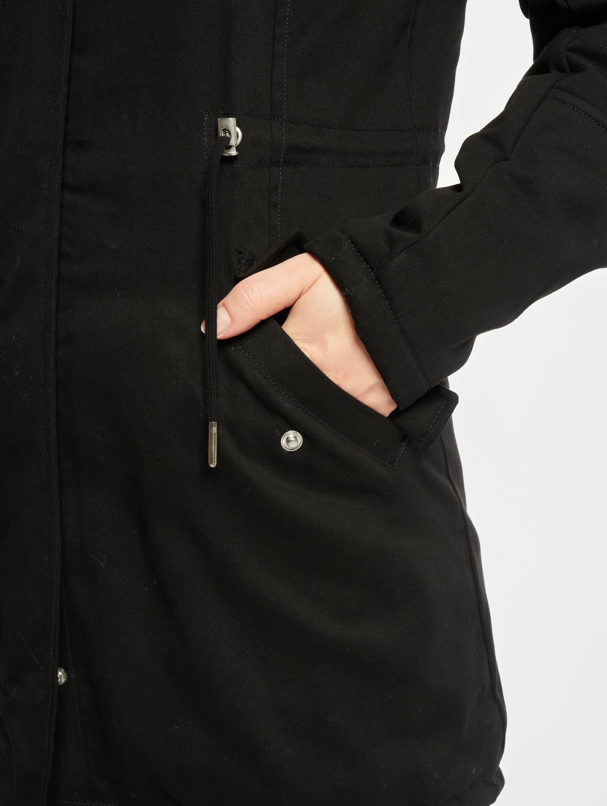 Urban Classics Winterjacke Ladies Sherpa Lined Cotton schwarz