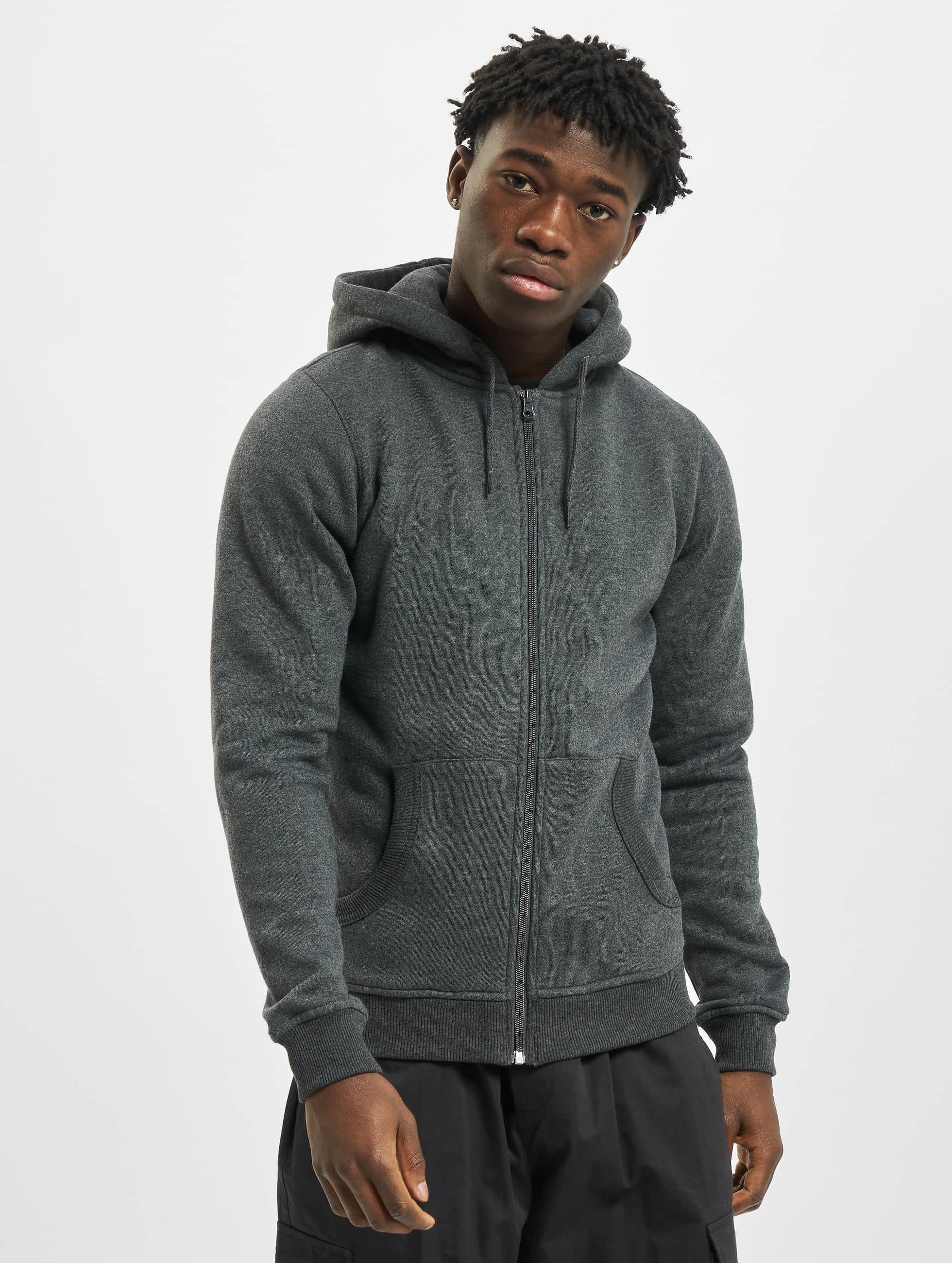 Urban Classics Zip Hoodie Relaxed серый