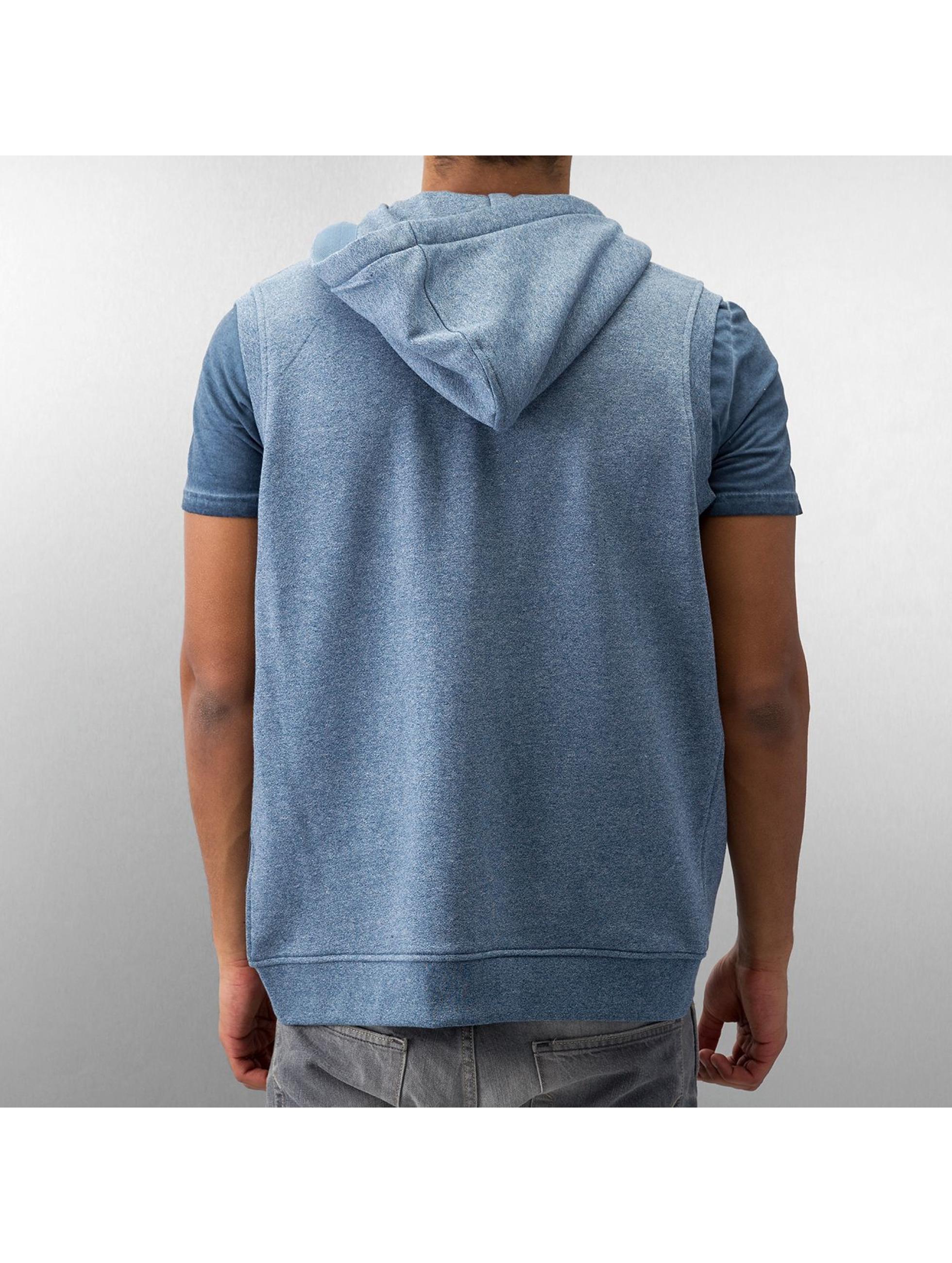 Urban Classics Zip Hoodie Melange Hooded blau