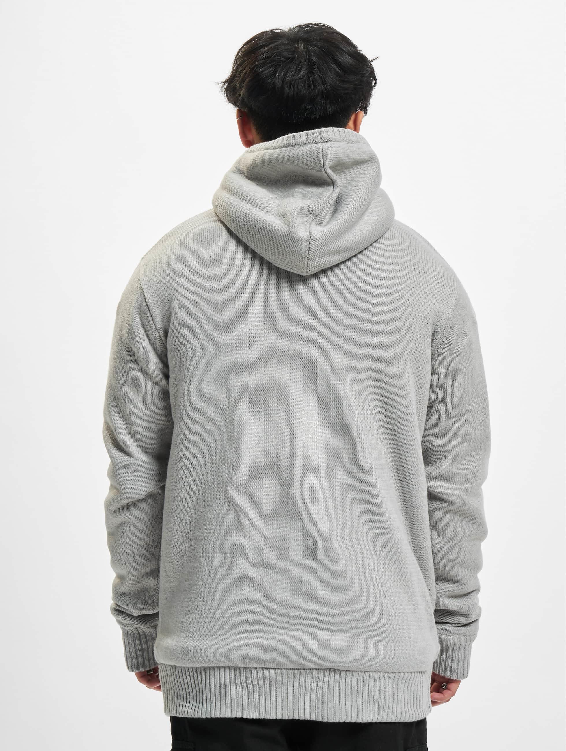 Urban Classics Zip Hoodie Knitted Winter grau
