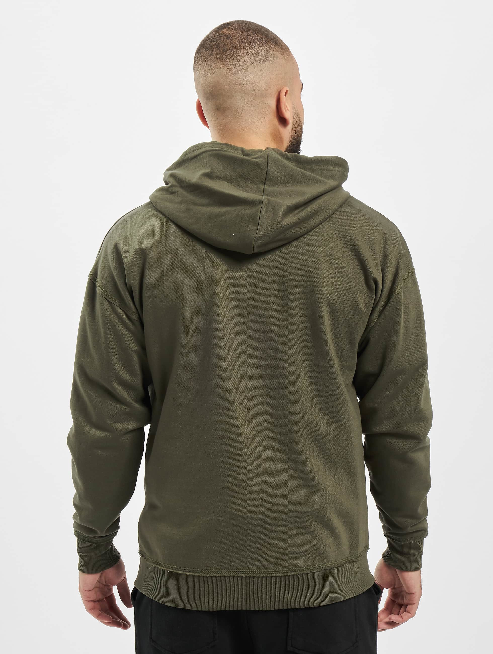 Urban Classics Zip Hoodie Oversized olive