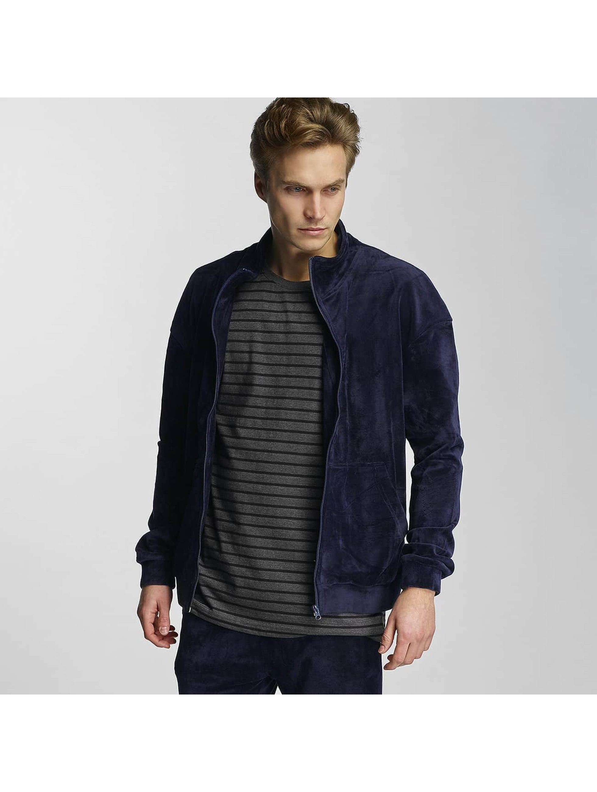 Urban Classics heren zomerjas Velvet - blauw