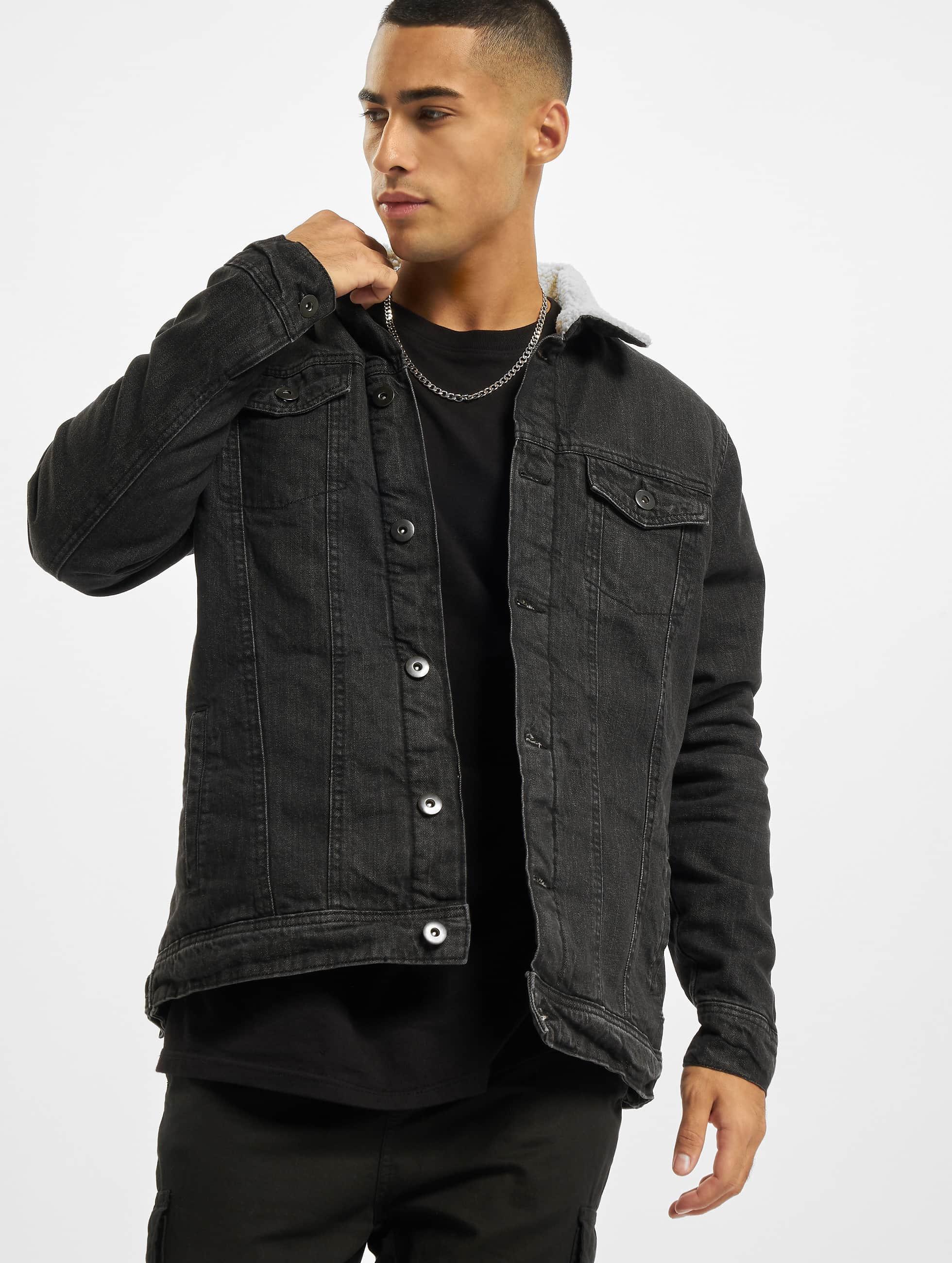 Urban Classics heren zomerjas Sherpa - zwart