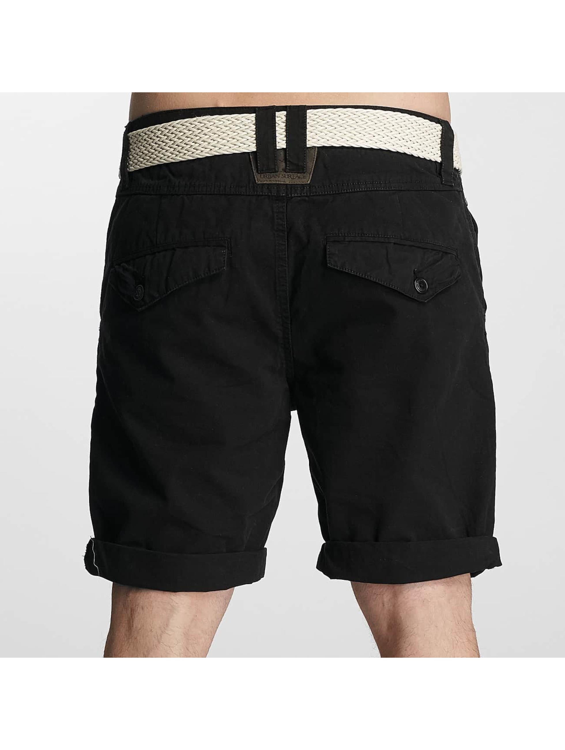 urban surface chino noir homme short urban surface acheter pas cher pantalon 340549. Black Bedroom Furniture Sets. Home Design Ideas