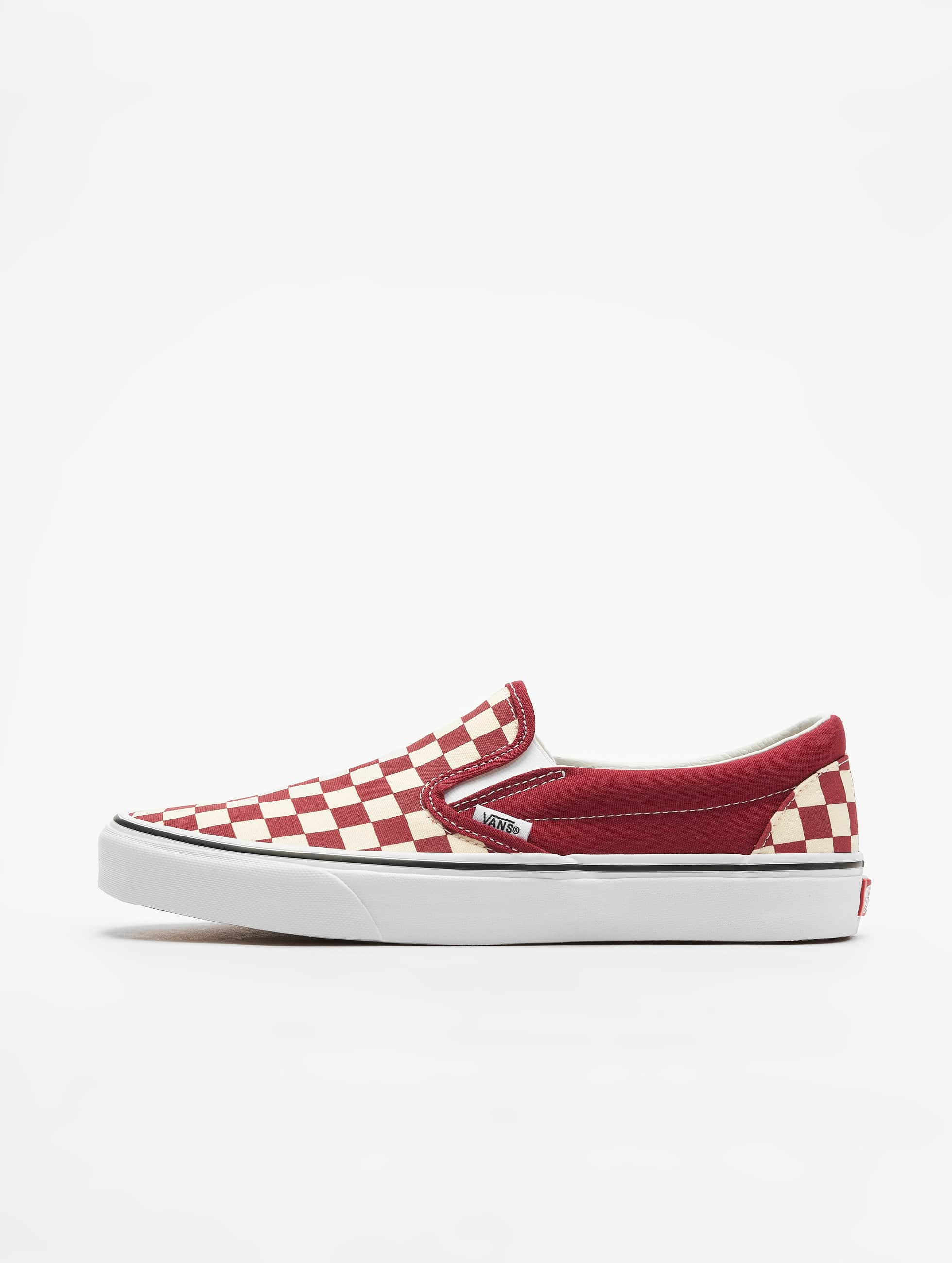 Vans UA Classic Slip On Sneakers Checkerboard Rumba RedWhite