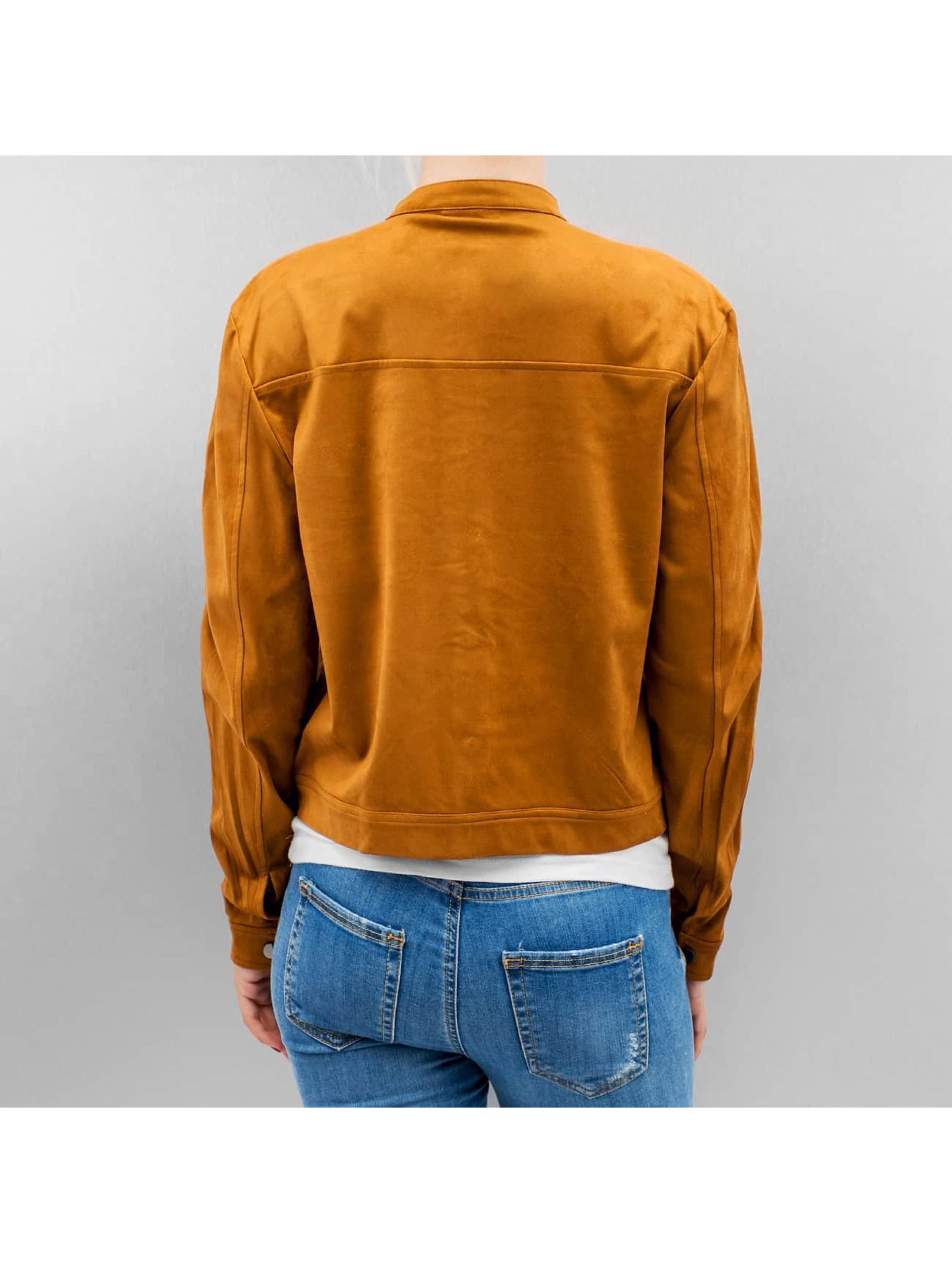Vero Moda Демисезонная куртка vmFia Fake Suede коричневый