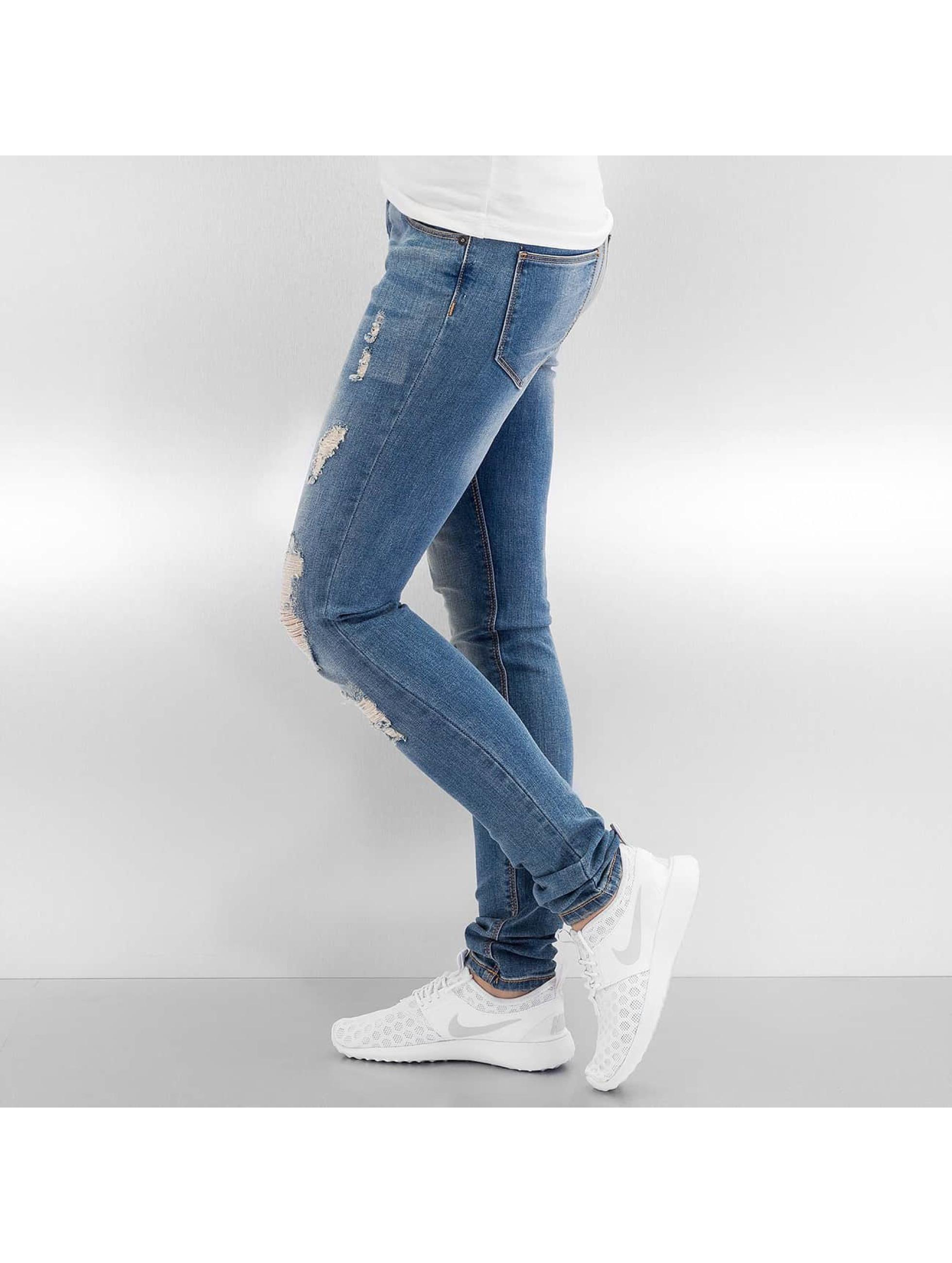 Vero Moda Облегающие джинсы vmFive Low Super Slim синий