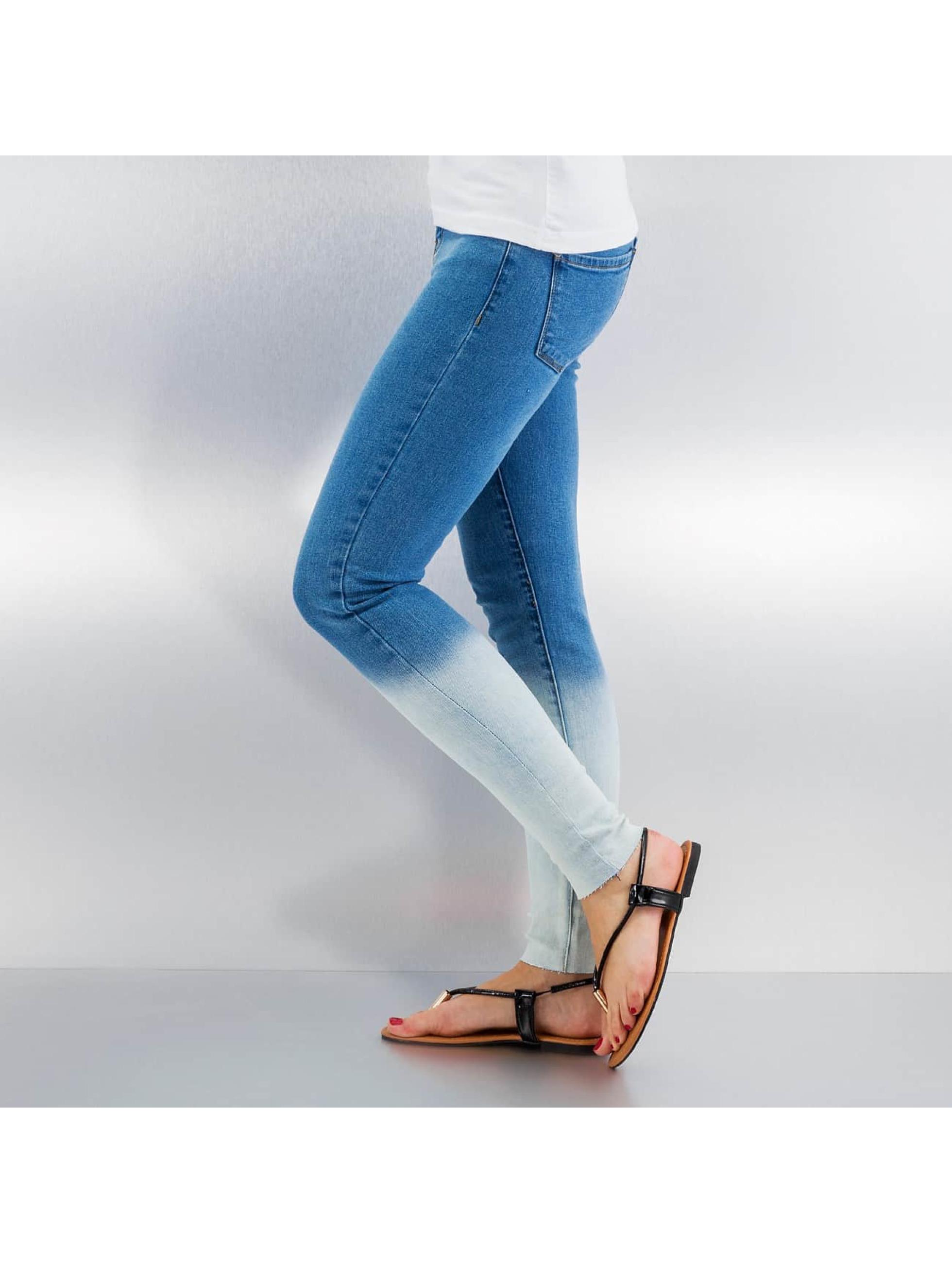 Vero Moda Облегающие джинсы vmSeven Dip Dye Ankle синий