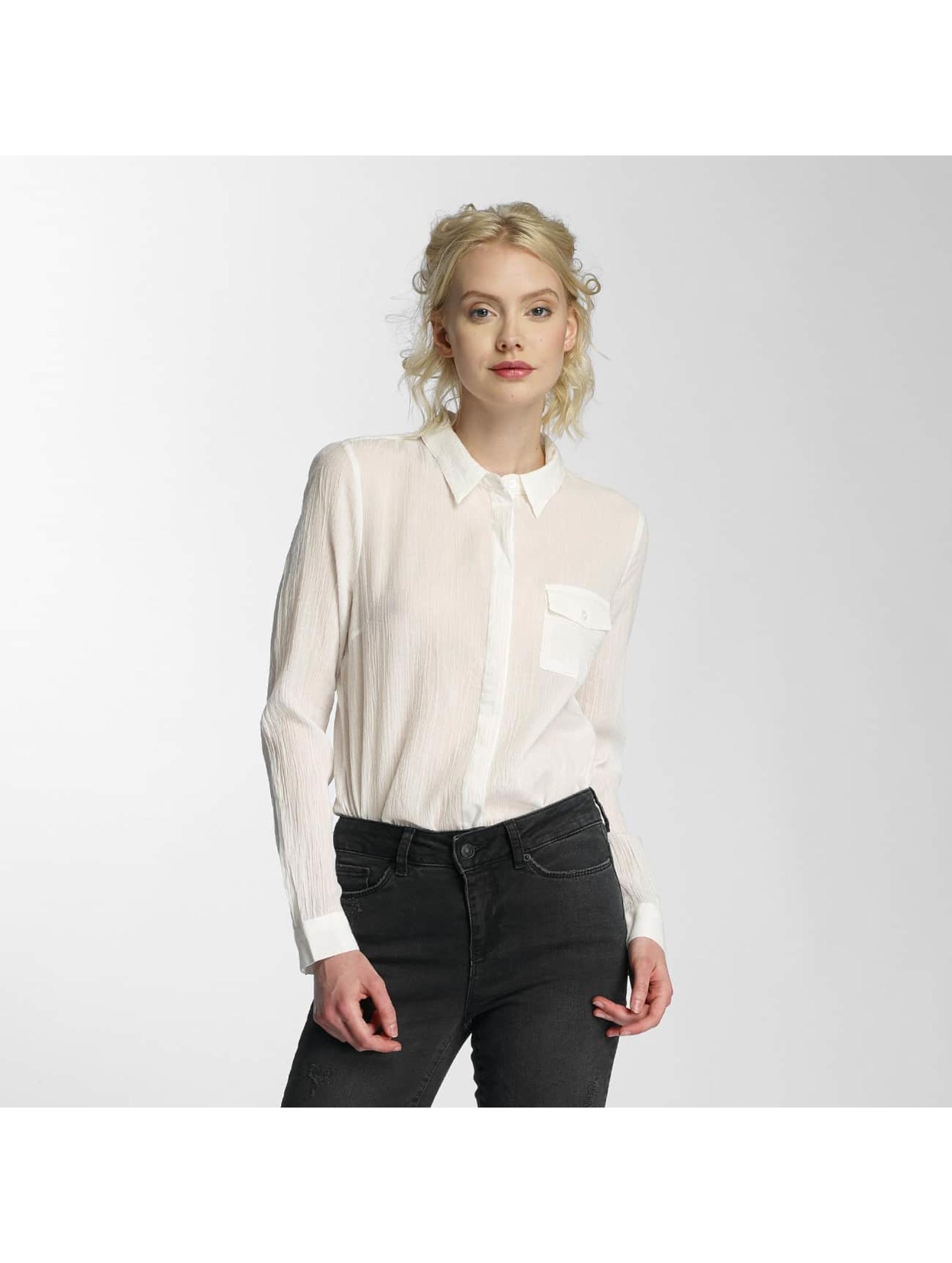 Vero Moda Blúzky/Tuniky vmBasa Midi Woven biela