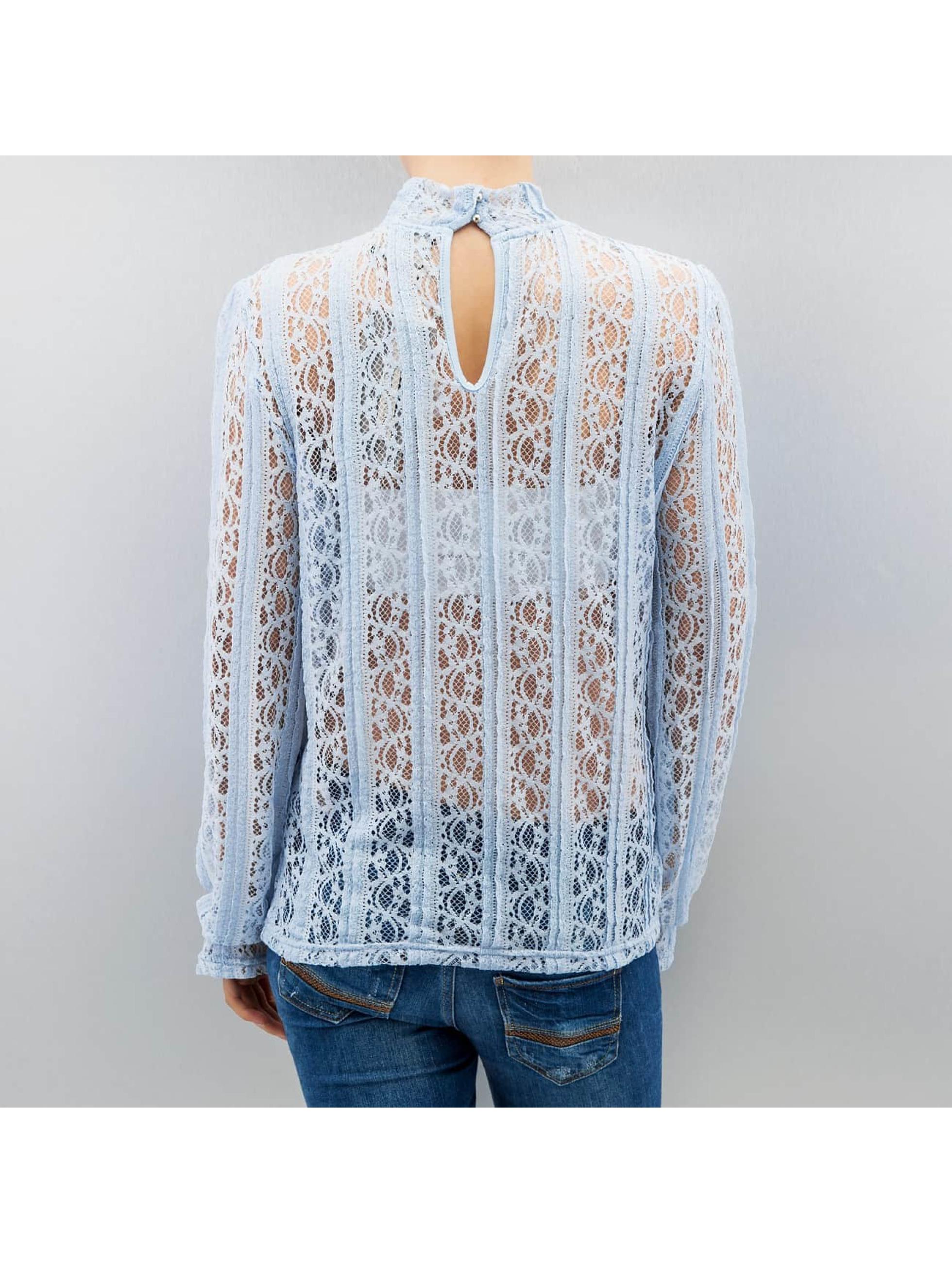 Vero Moda Blúzky/Tuniky vmBibbi modrá