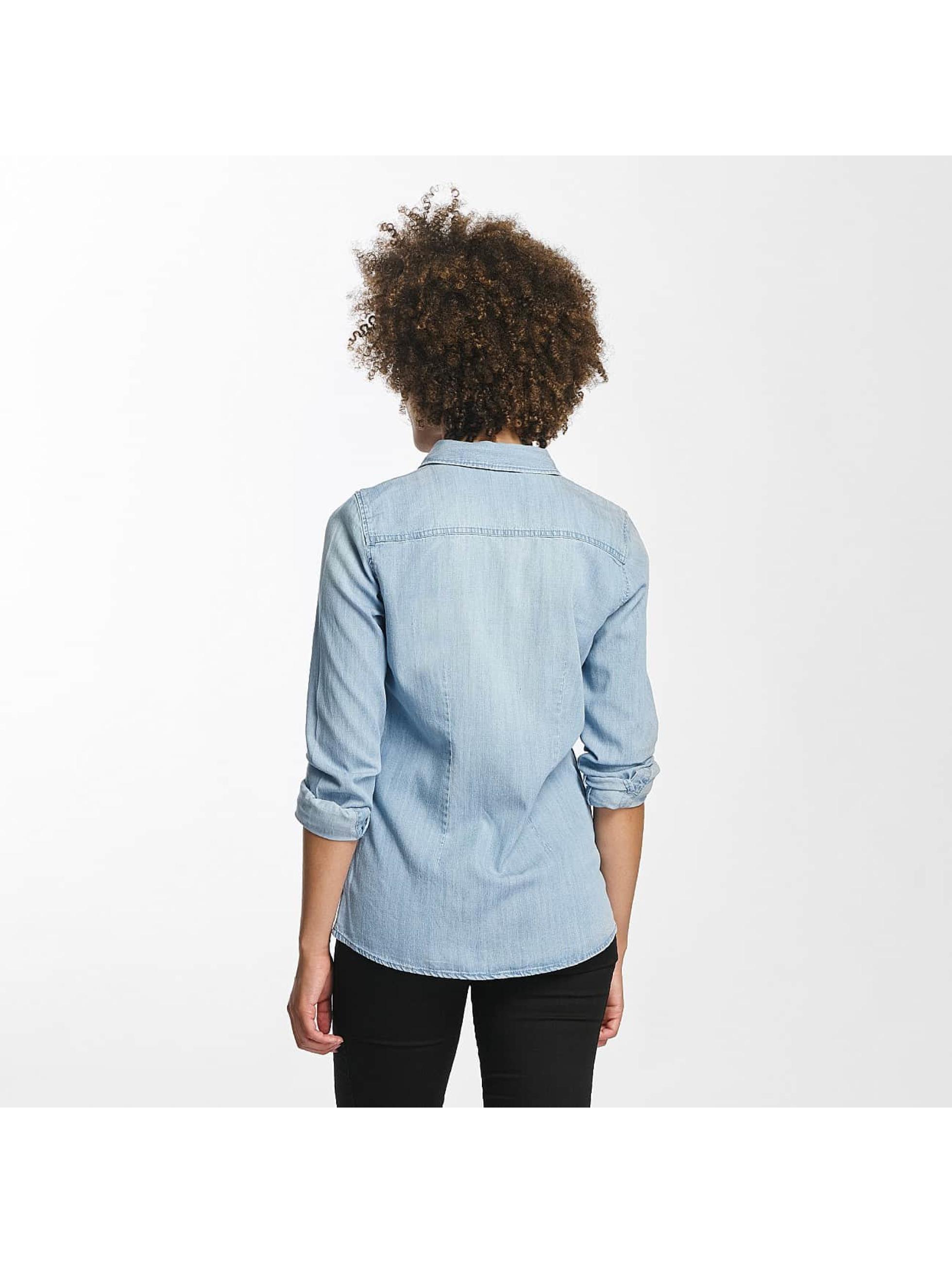 Vero Moda Bluzka/Tuniki vmViola Embroidery niebieski