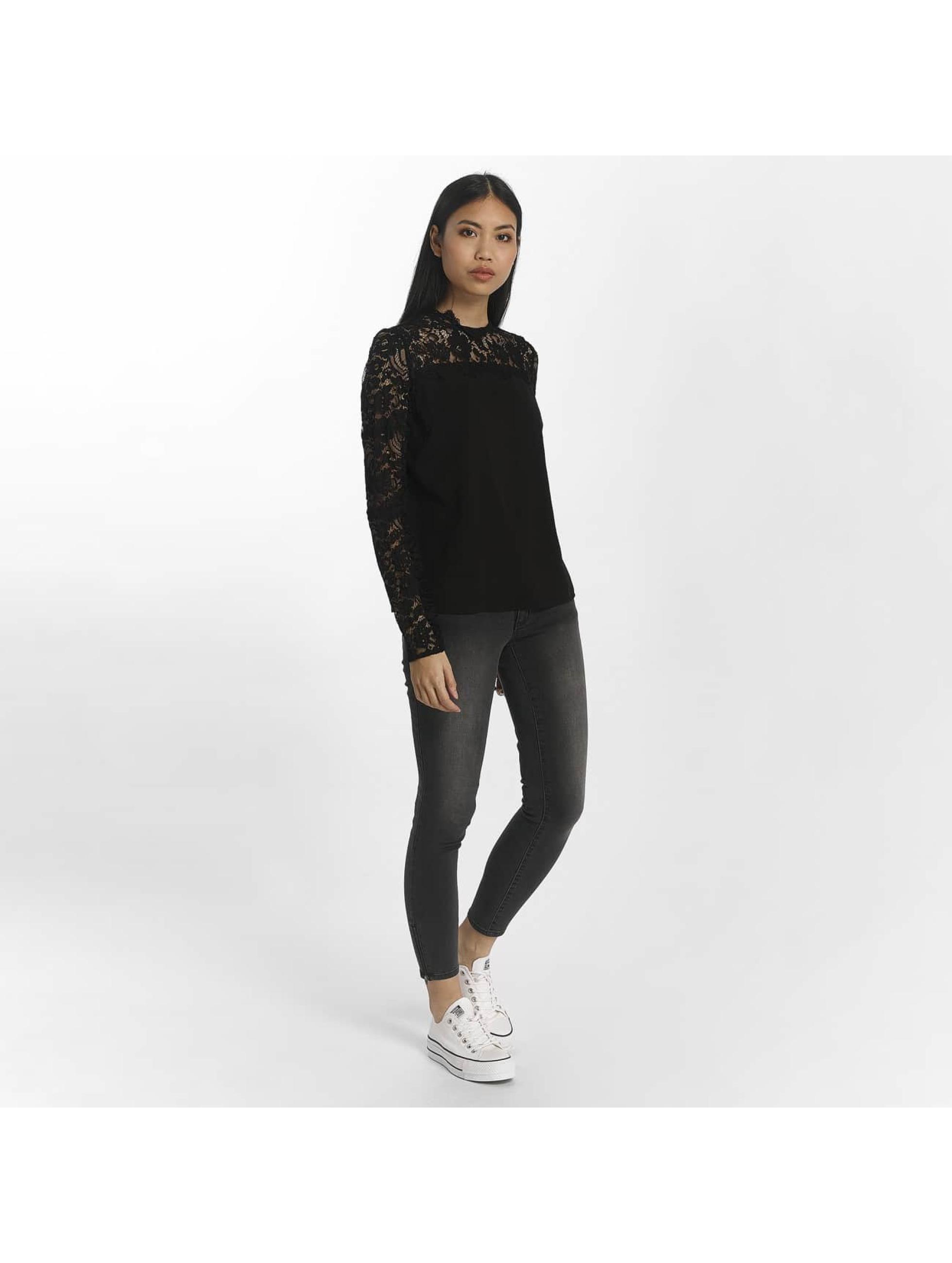 Vero Moda Camiseta de manga larga vmJanais Lace negro