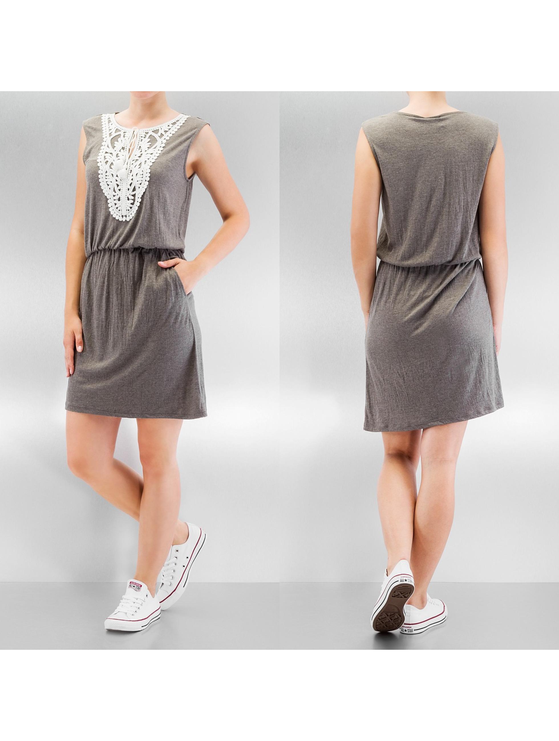 Vero Moda Kleid vmMatea Crochet Short grau