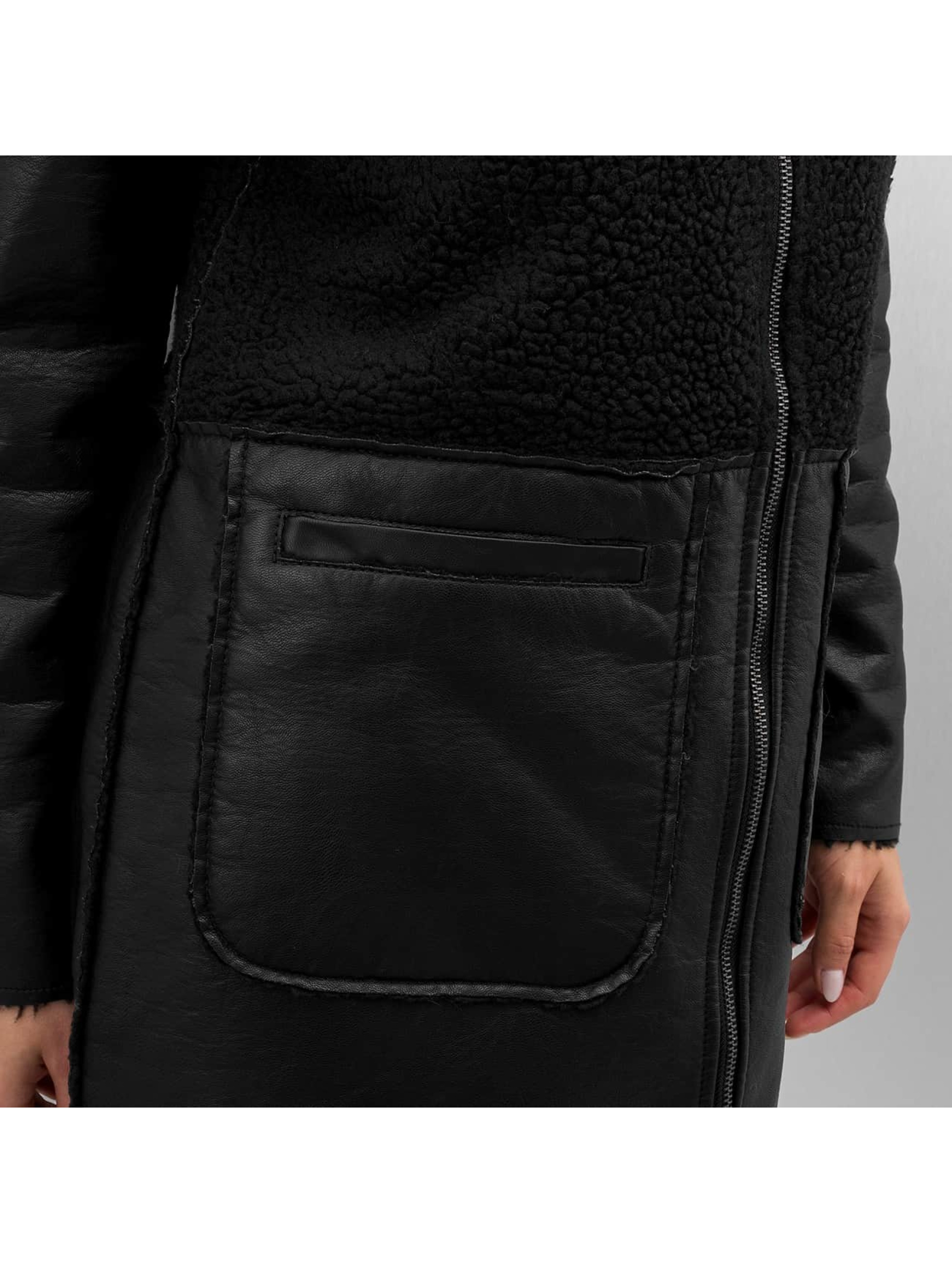 Vero Moda Lærjakke vmToni 3/4 Leather Long Reversible svart