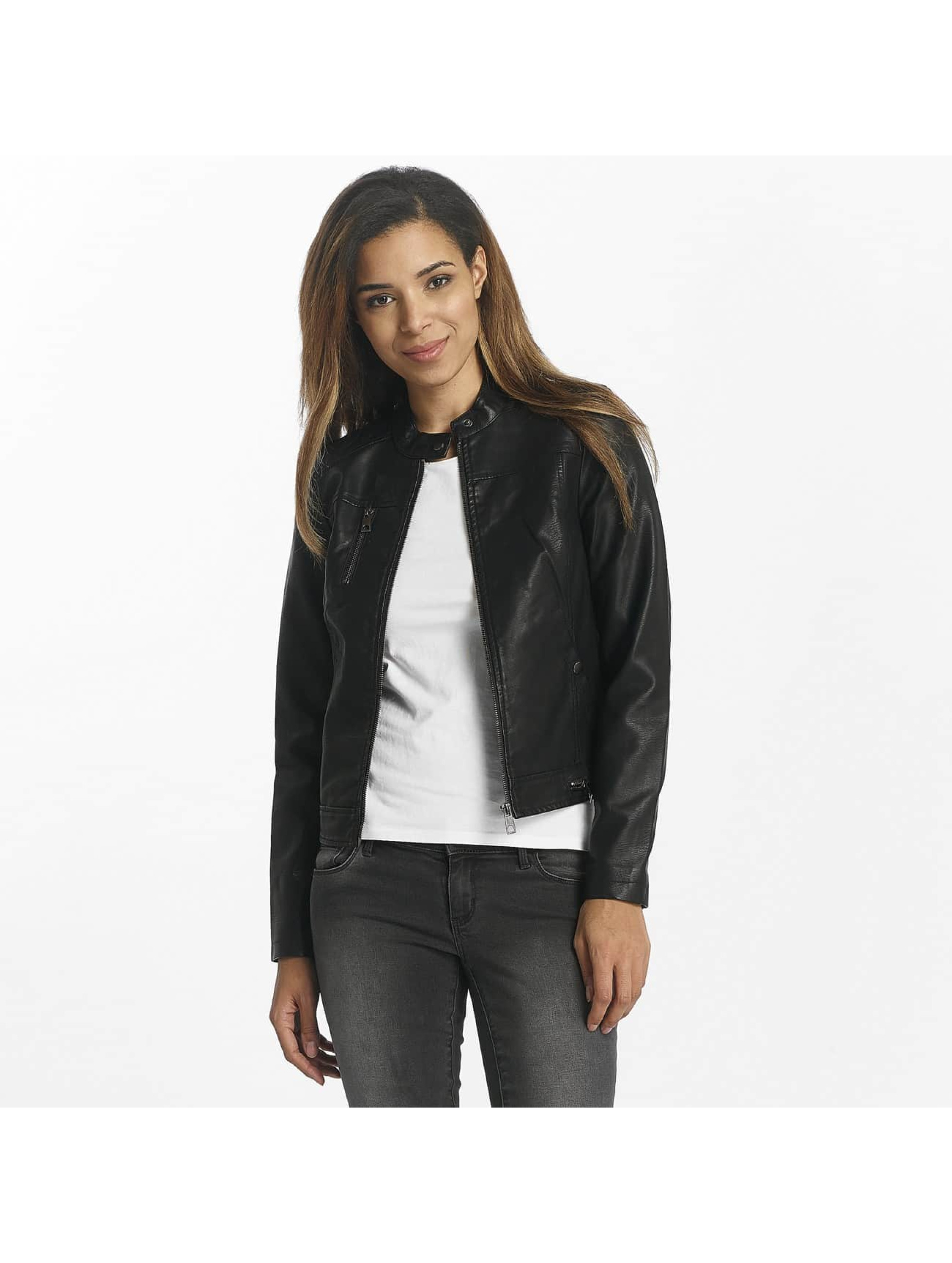Vero Moda Leather Jacket vmSoffy black