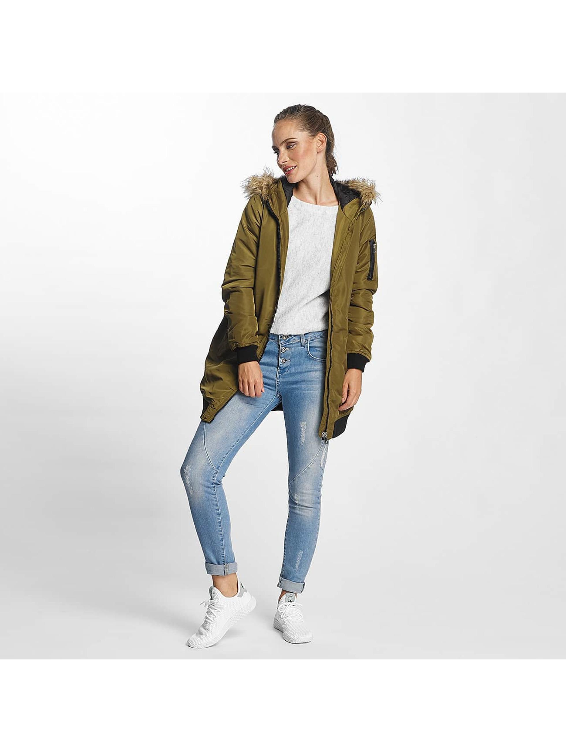 Vero Moda   vmDicte Fake Fur 3 4 J olive Femme Manteau 367312 8cfb77a37fb1