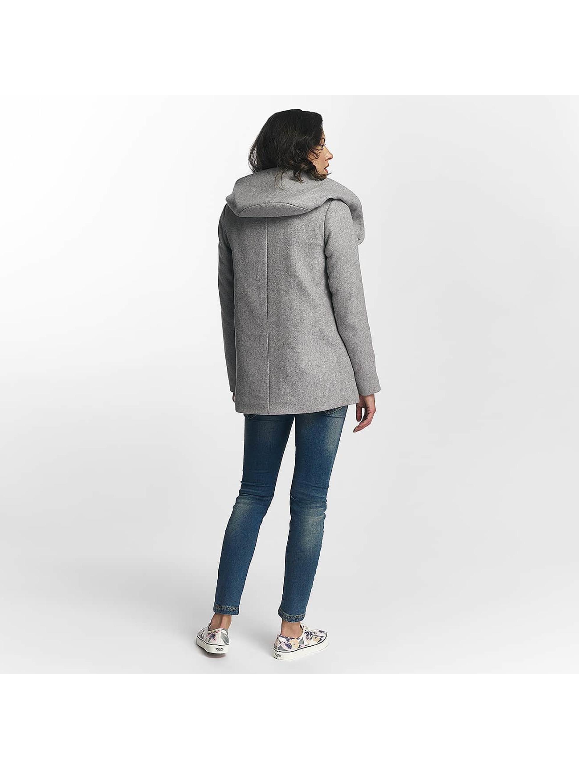 vero moda damen mantel vmcollar wool in grau 345238. Black Bedroom Furniture Sets. Home Design Ideas