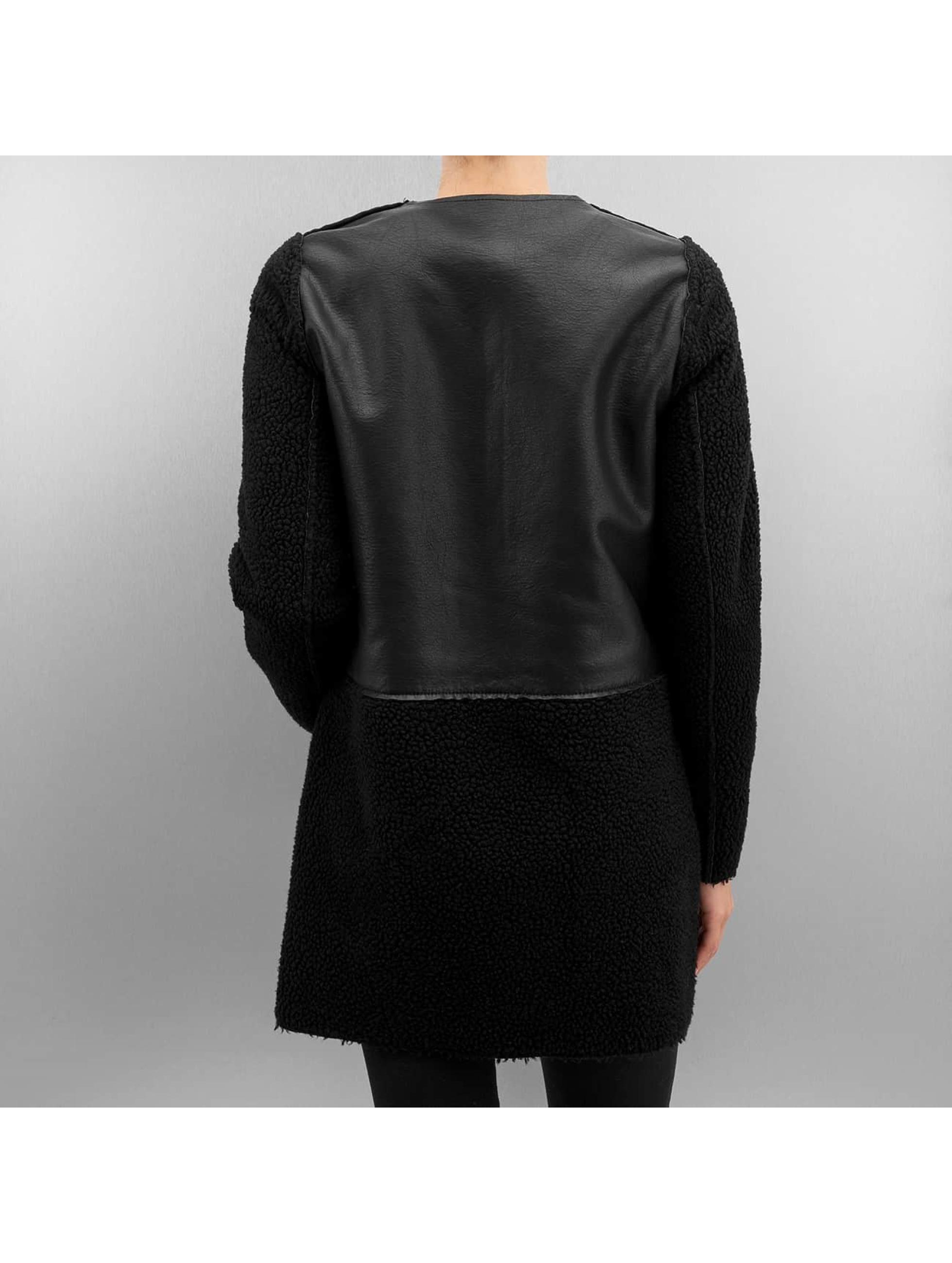 Vero Moda Nahkatakit vmToni 3/4 Leather Long Reversible musta