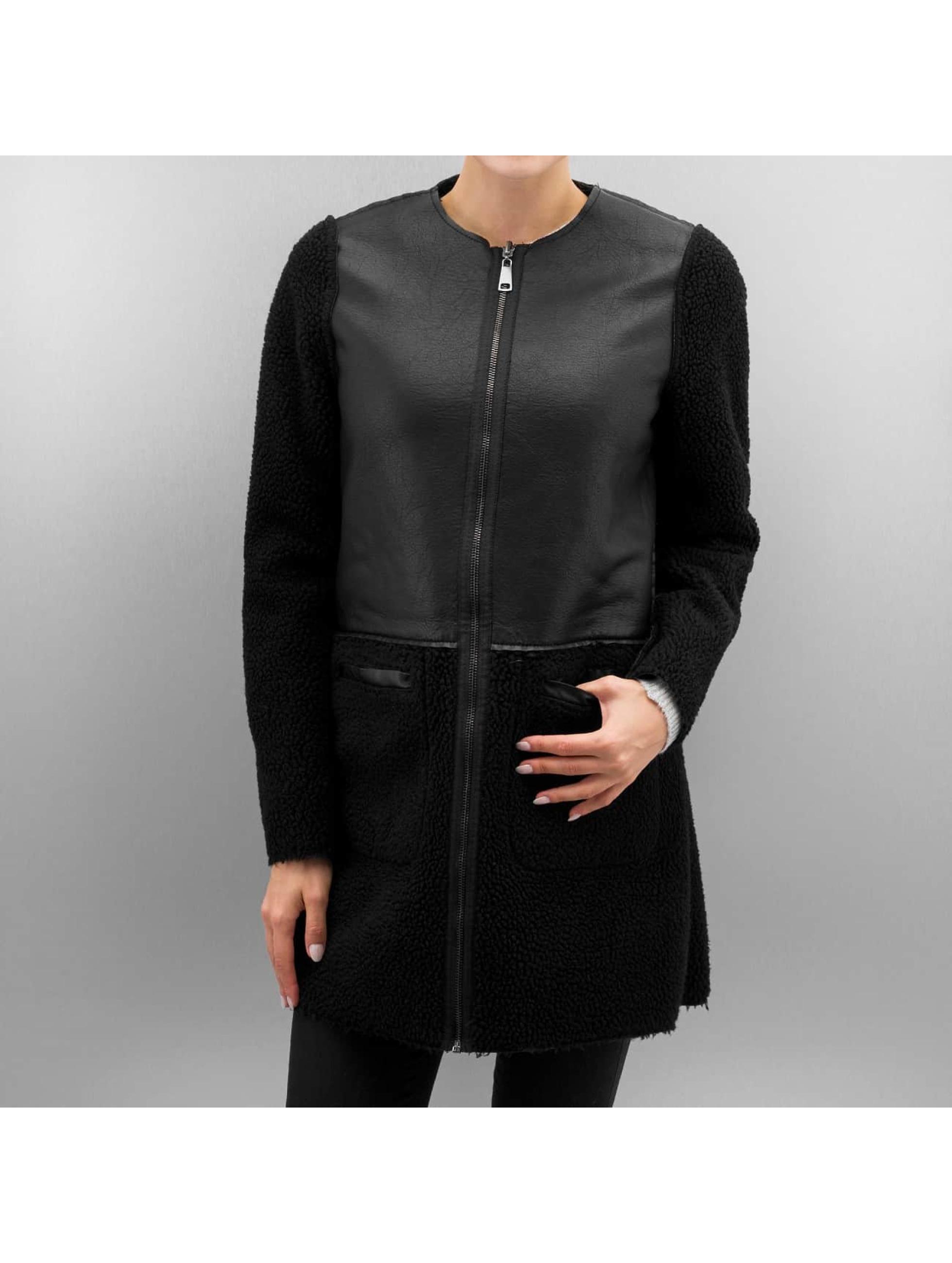 Vero Moda Skinnjackor vmToni 3/4 Leather Long Reversible svart