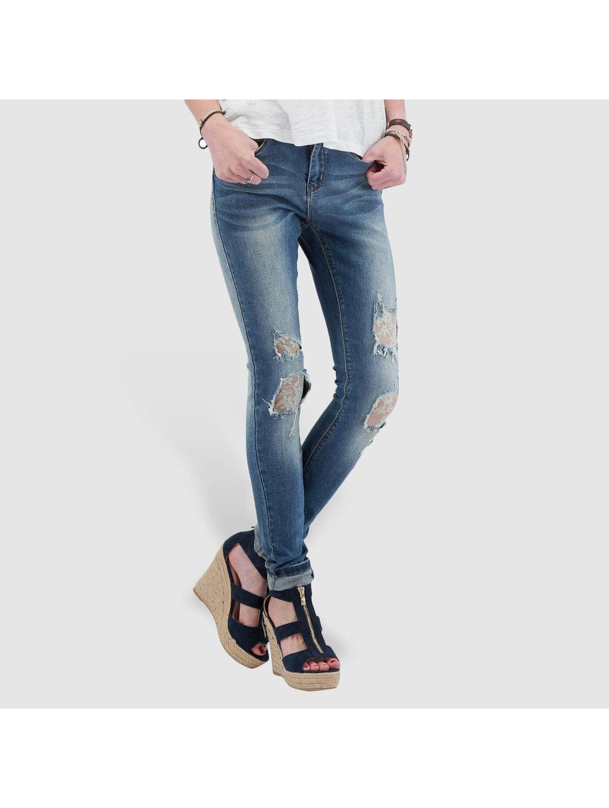 Vero Moda Skinny Jeans vmSeven blau