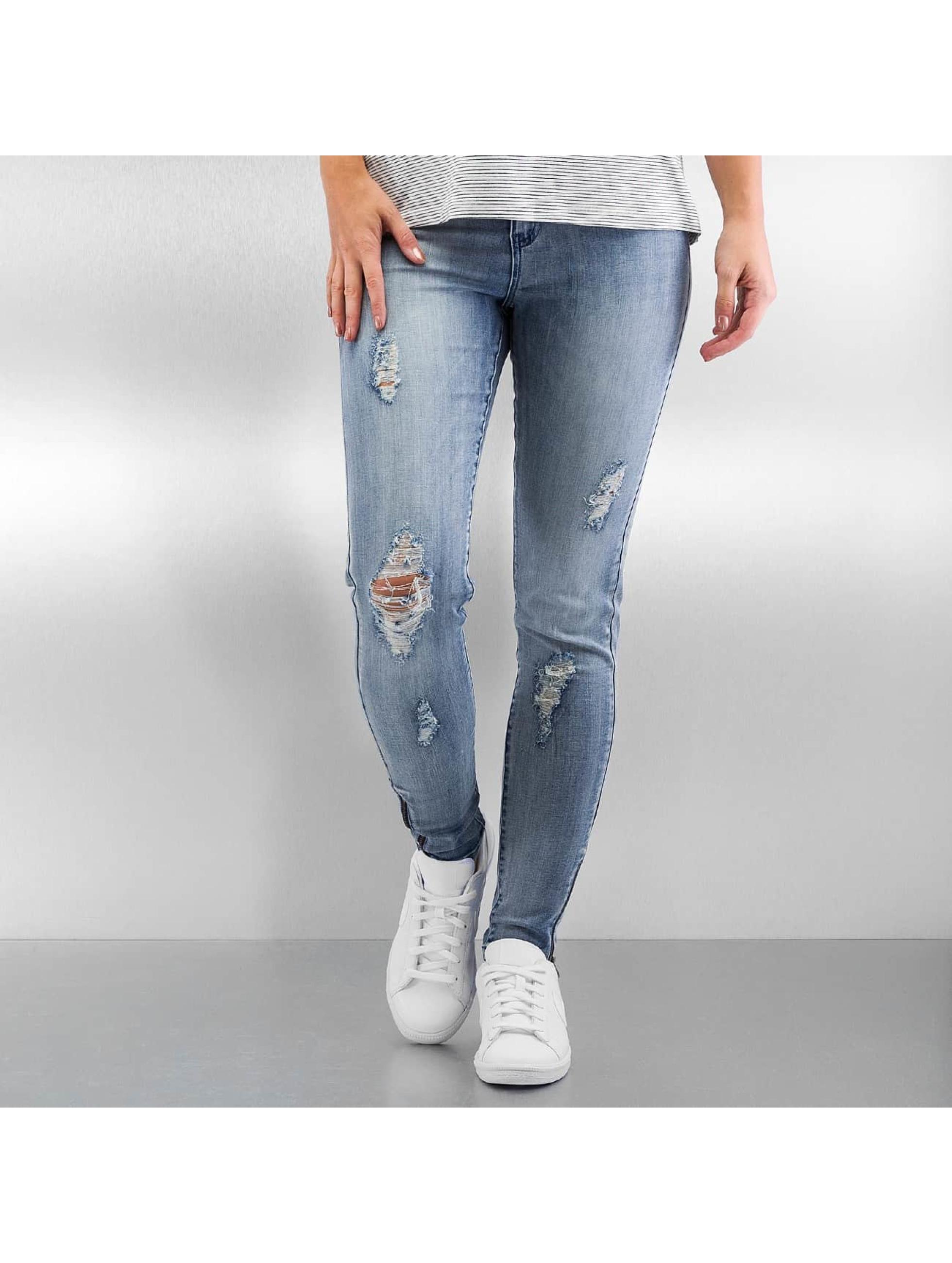 Skinny Jeans vmSeven Zip Ankle in blau