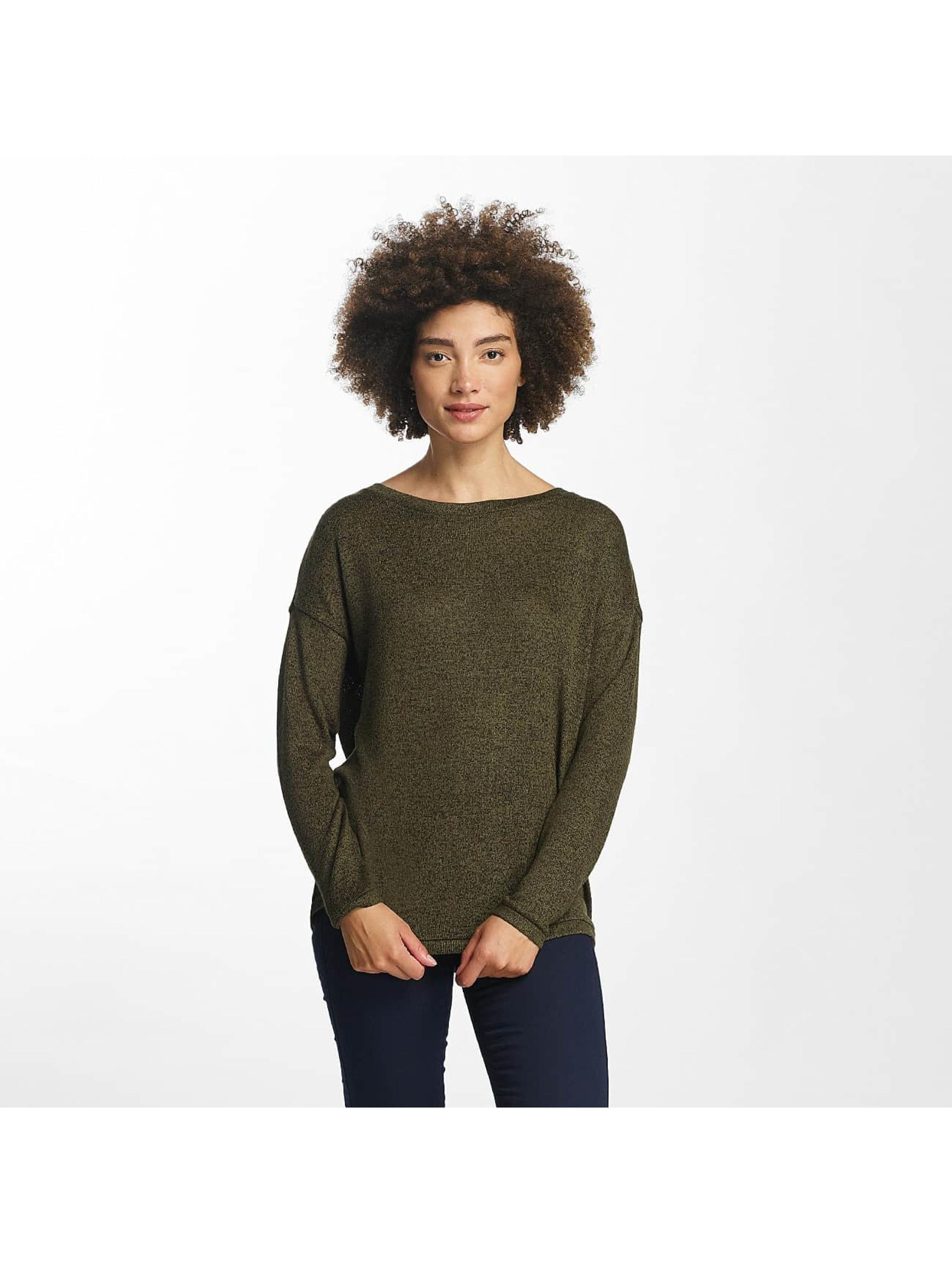 Vero Moda Swetry vmSadie oliwkowy