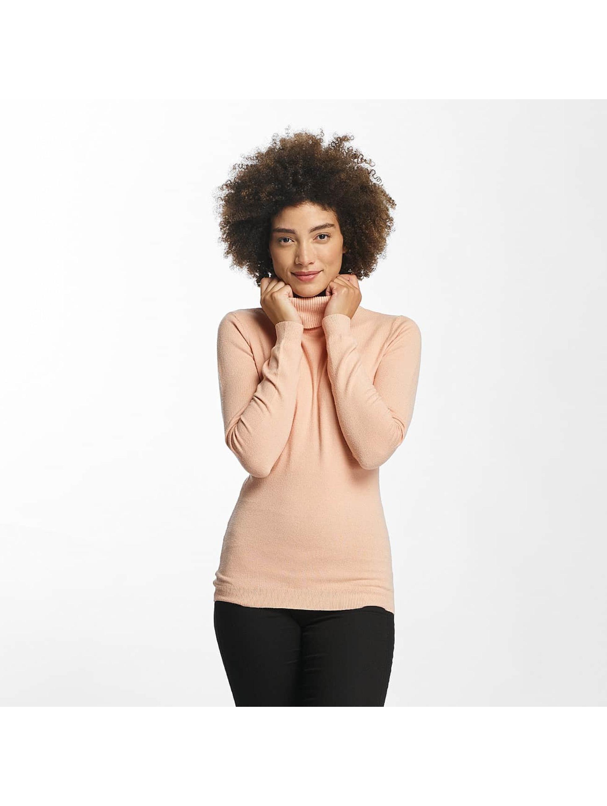 Vero Moda Swetry vmHappy Rollneck rózowy