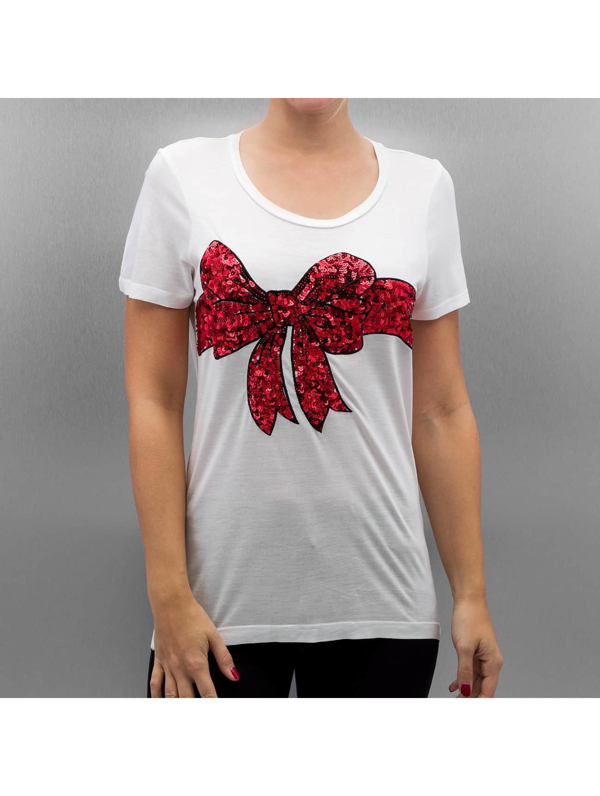 Vero Moda T-shirt VmChristmas Sequin bianco
