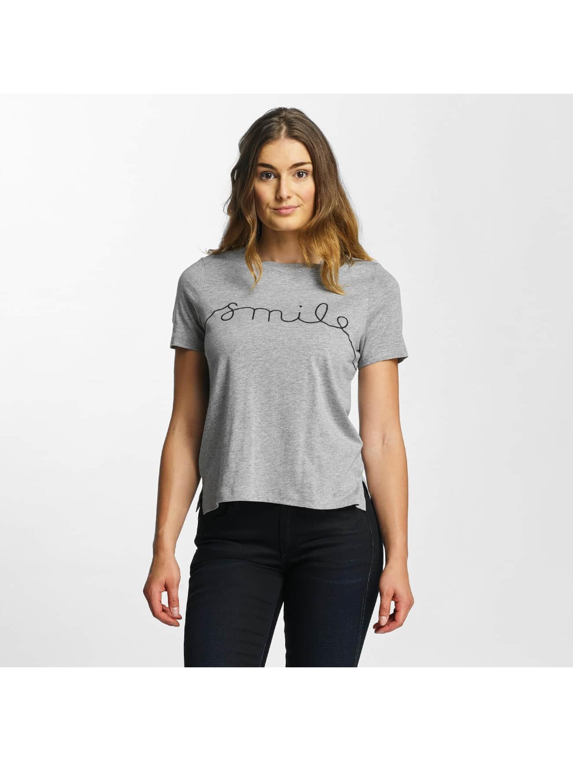 Vero Moda T-Shirt vmAnn Smile grau