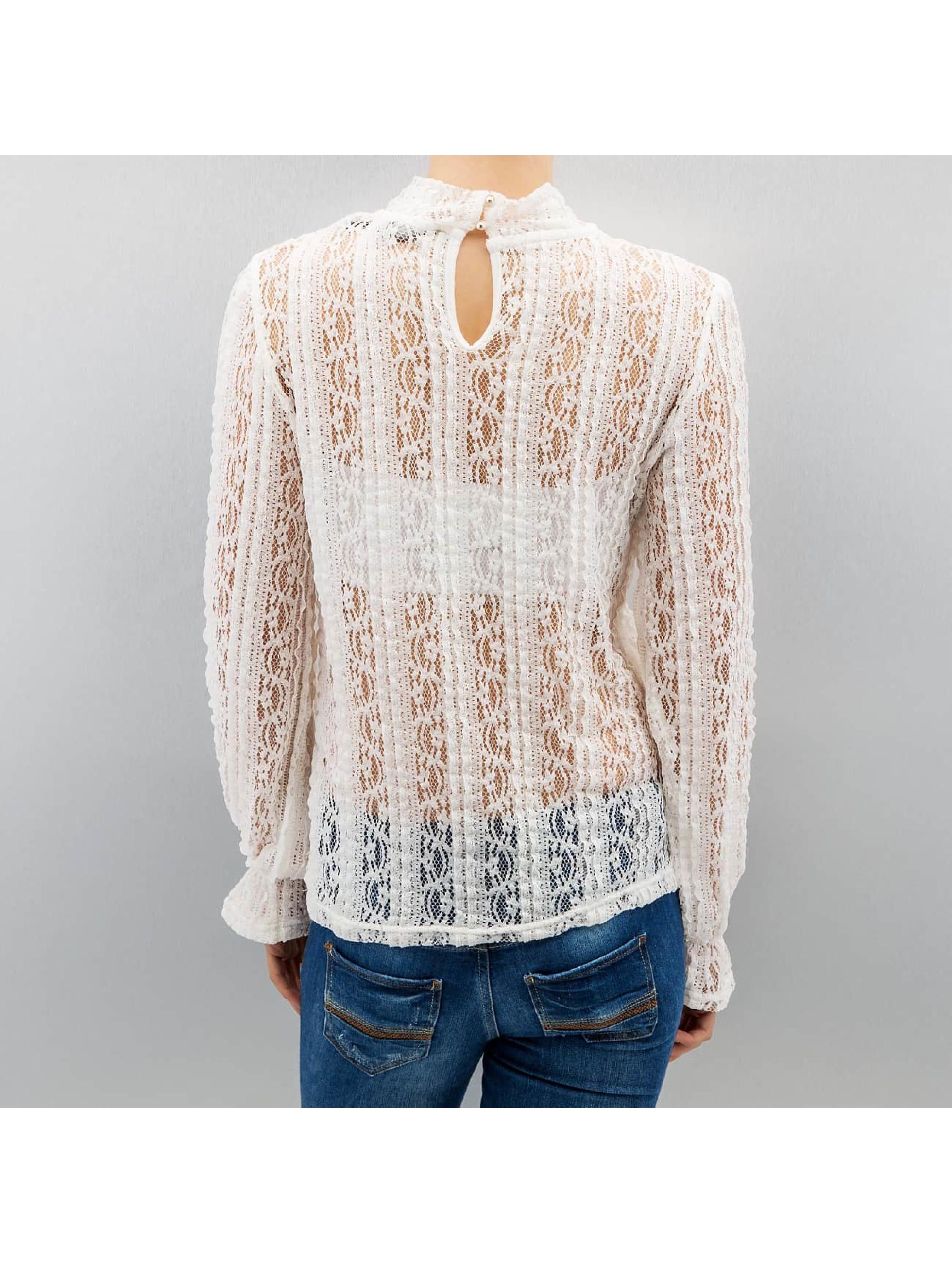 Vero Moda T-Shirt manches longues vmBibbi blanc