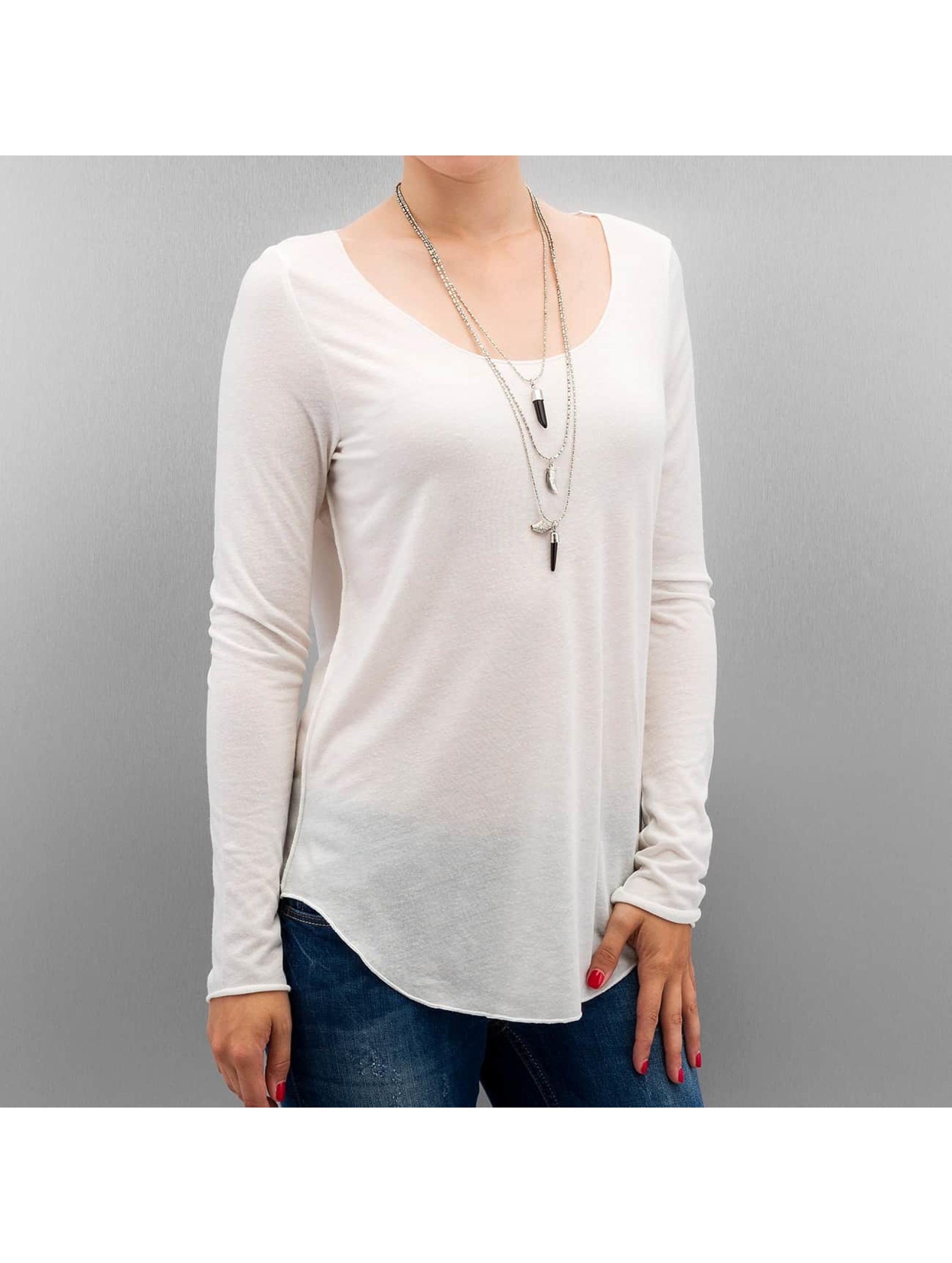 Vero Moda Haut / T-Shirt manches longues vmLua en blanc