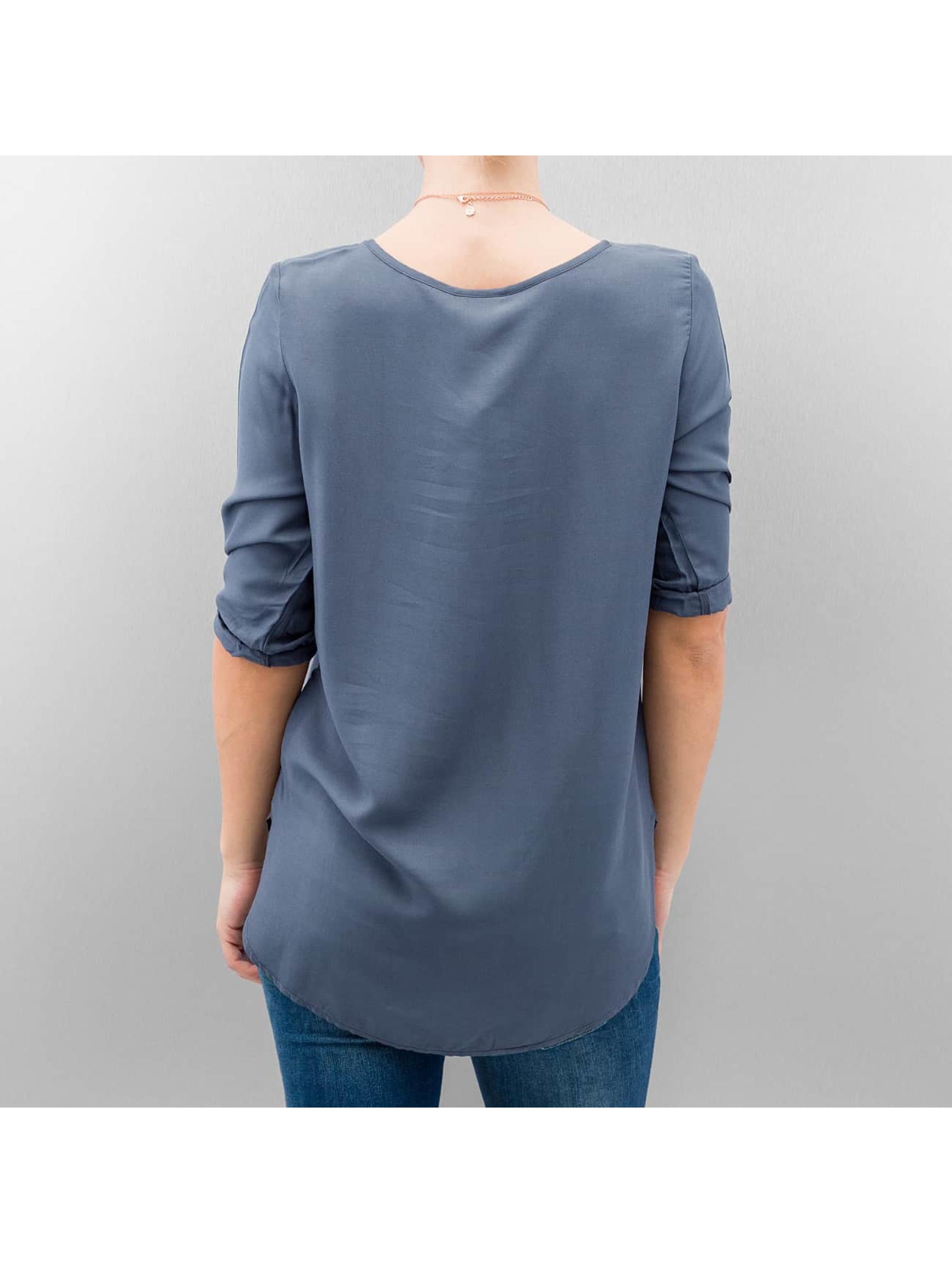 Vero Moda T-Shirt manches longues vmBoca 3/4 Fold Up bleu