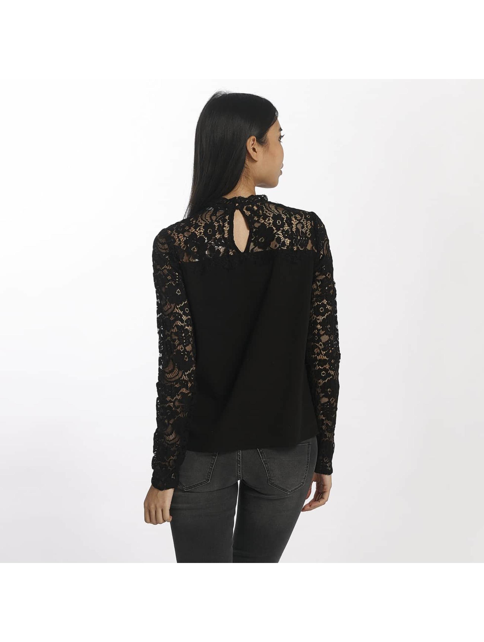 Vero Moda T-Shirt manches longues vmJanais Lace noir