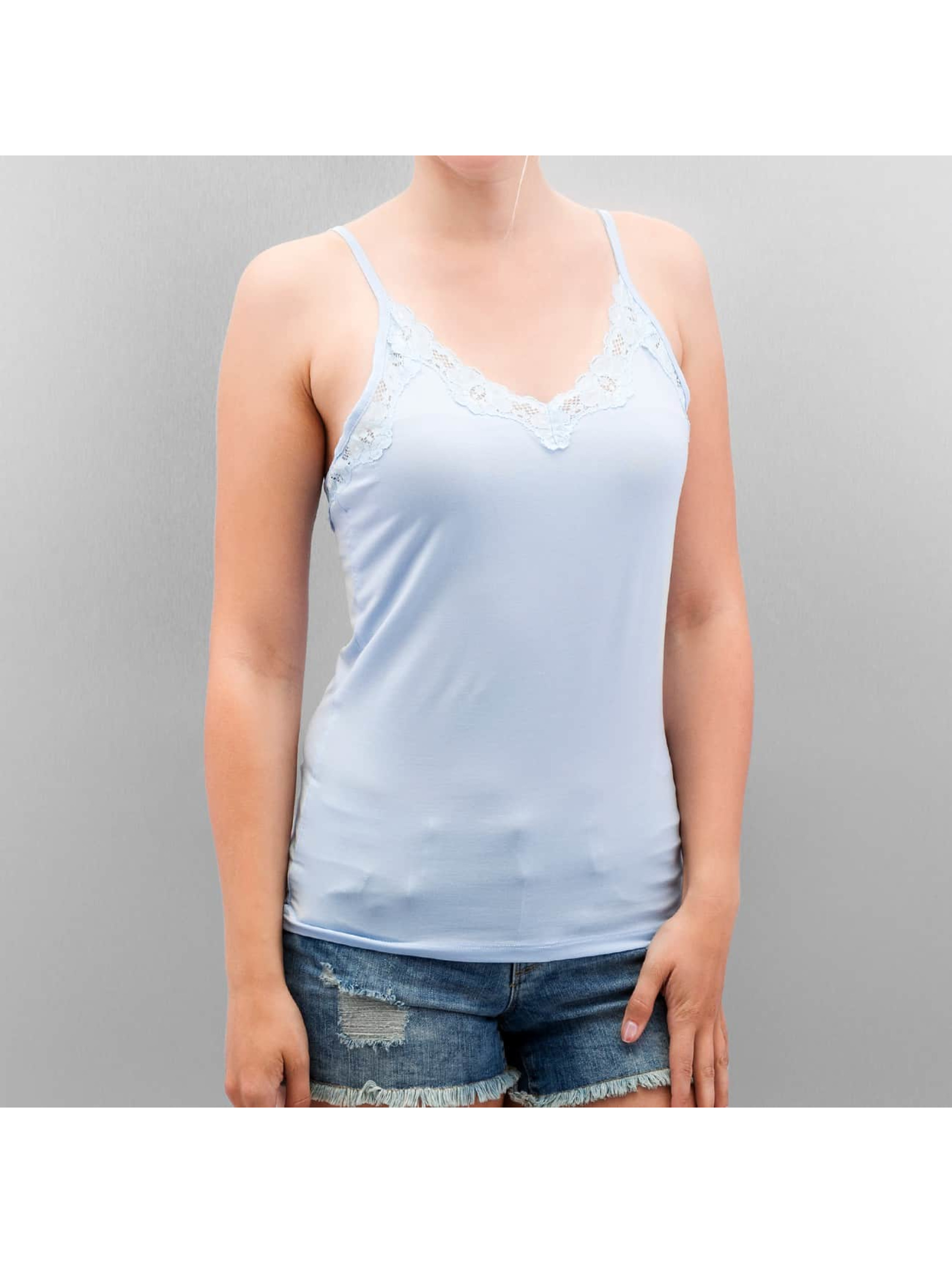 Vero Moda Tops vmLeandra Singlet niebieski