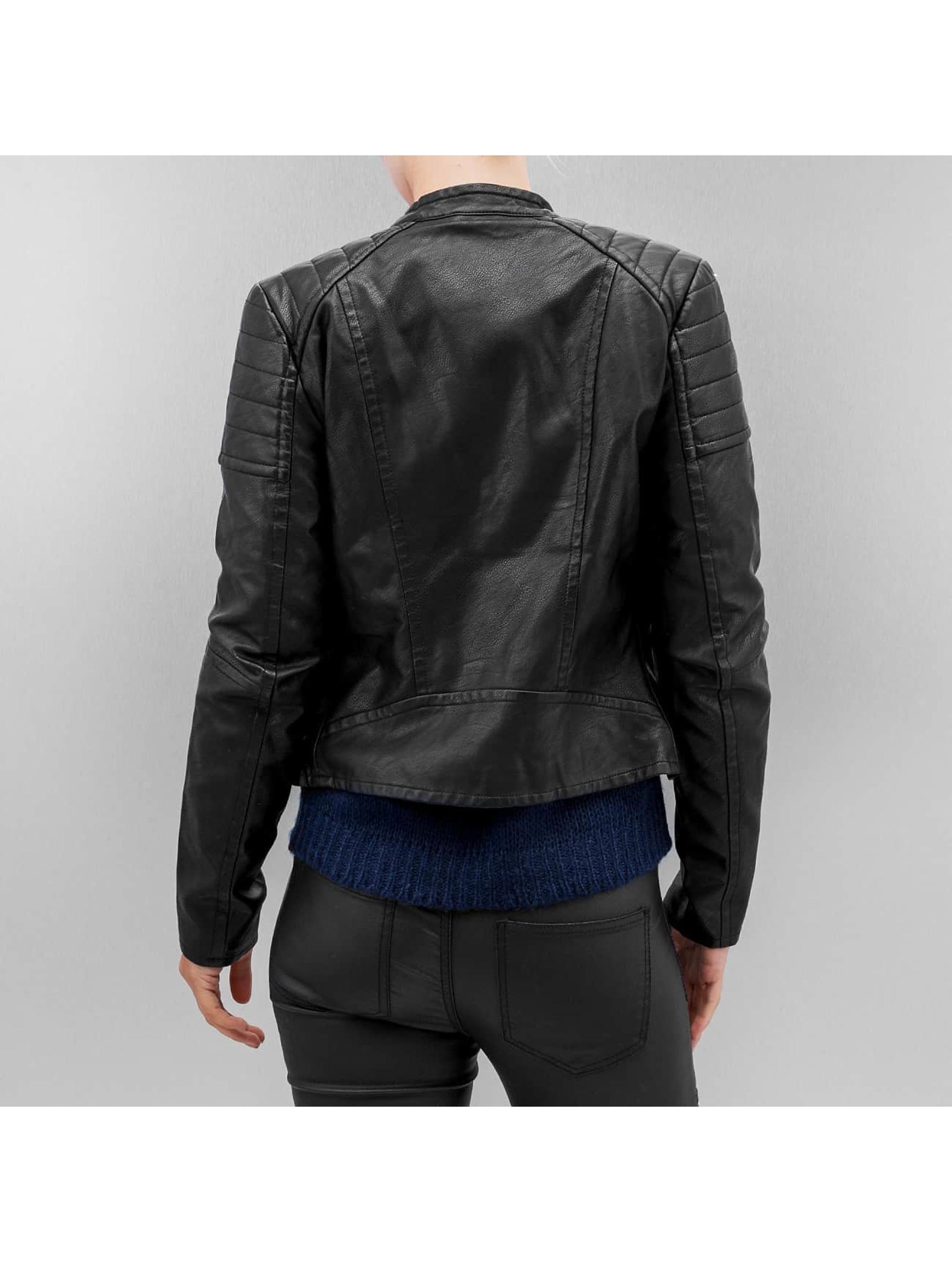 Vero Moda Veste & Blouson en cuir vmShandy noir