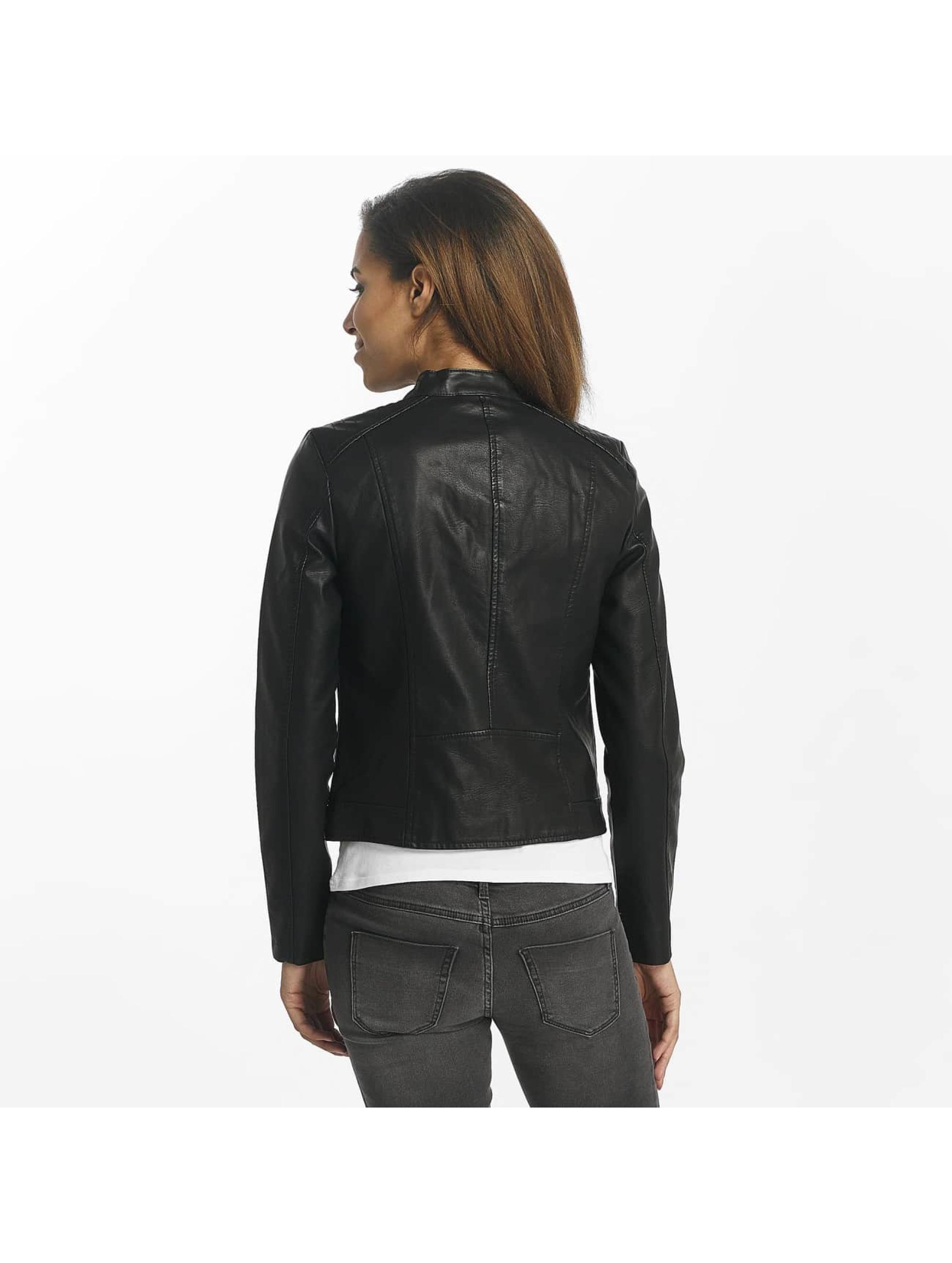 Vero Moda Veste & Blouson en cuir vmSoffy noir