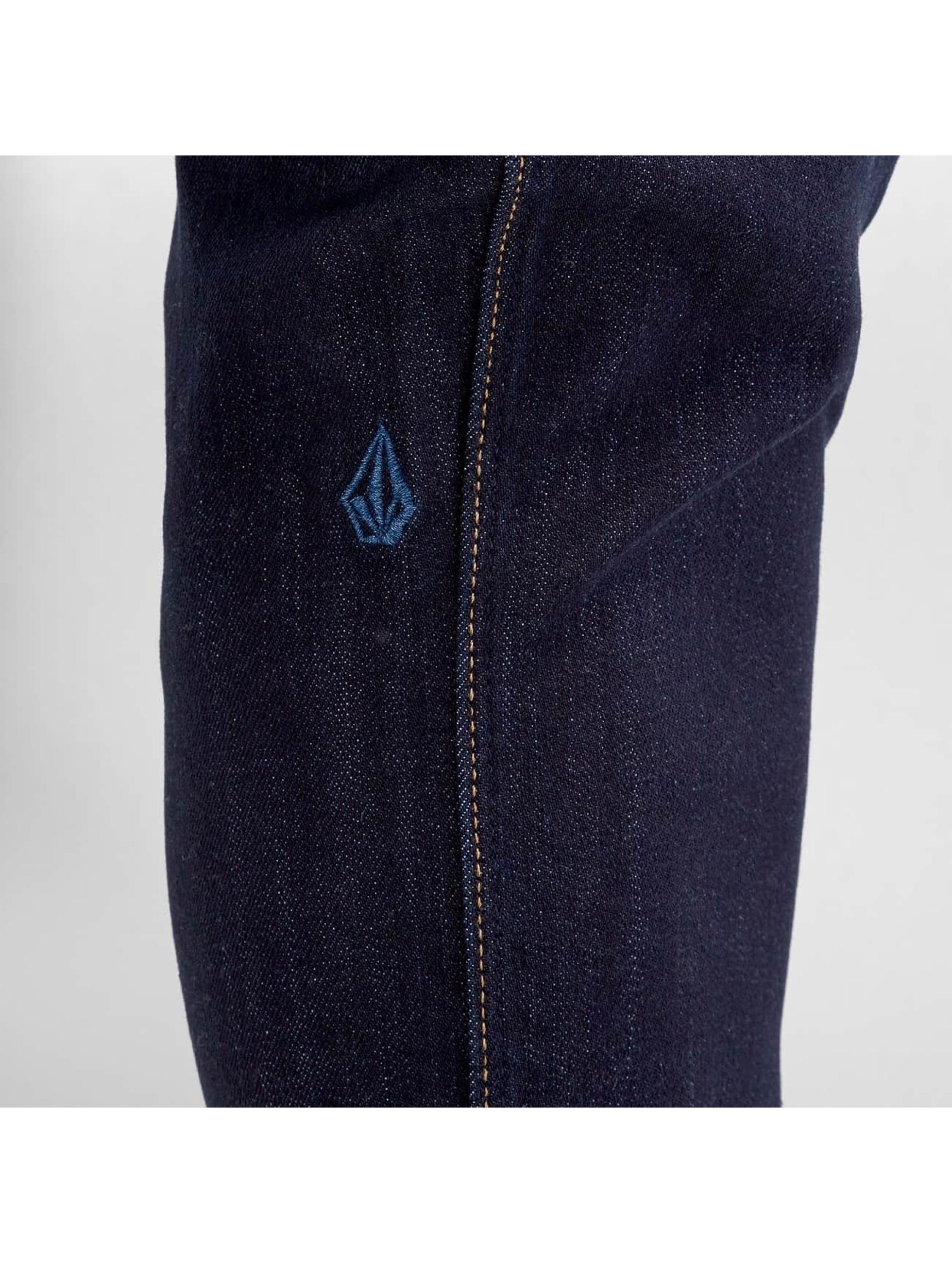 Volcom Джинсы прямого покроя 2x4 Denim синий