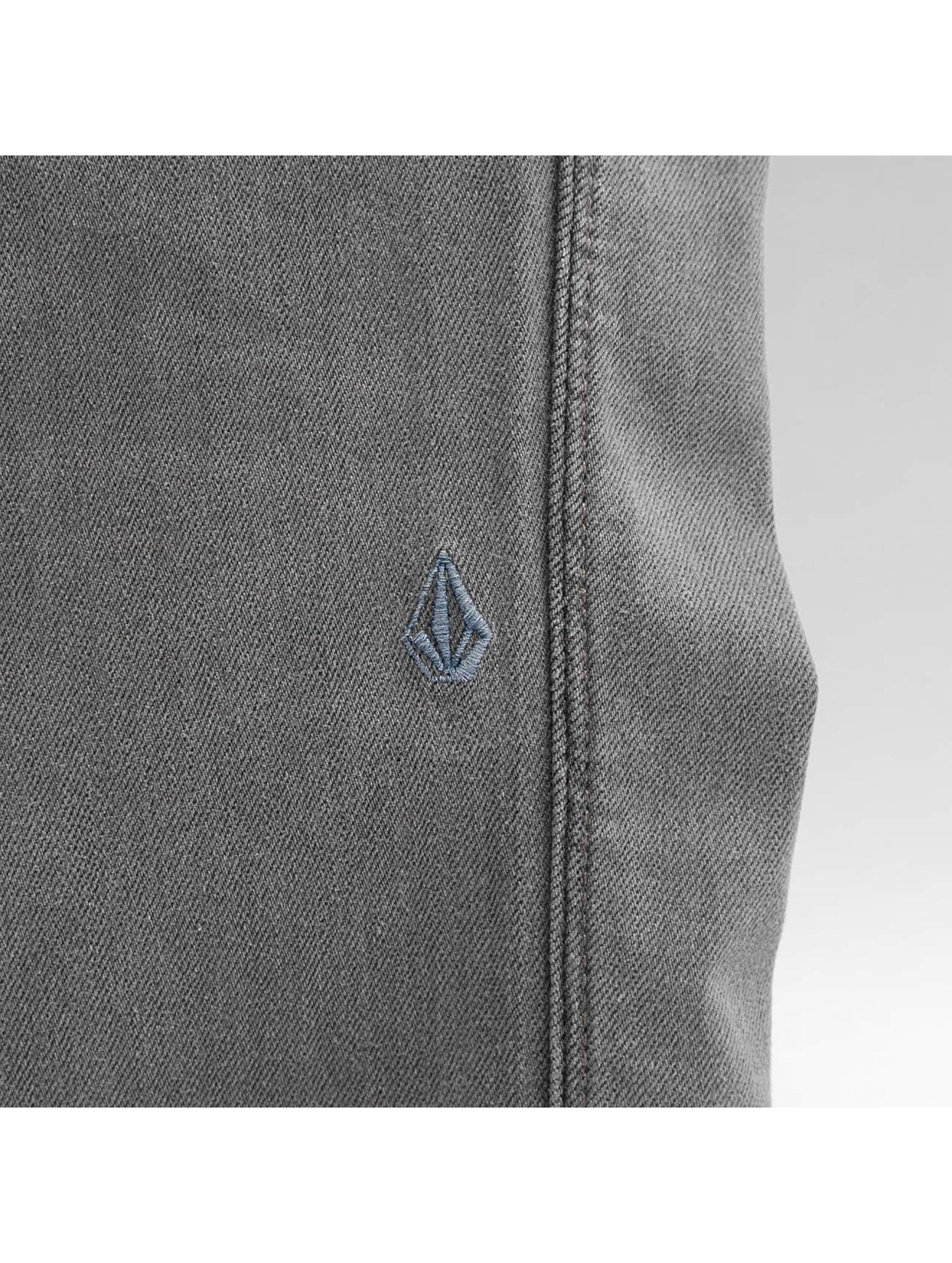 Volcom Облегающие джинсы 2x4 Denim серый