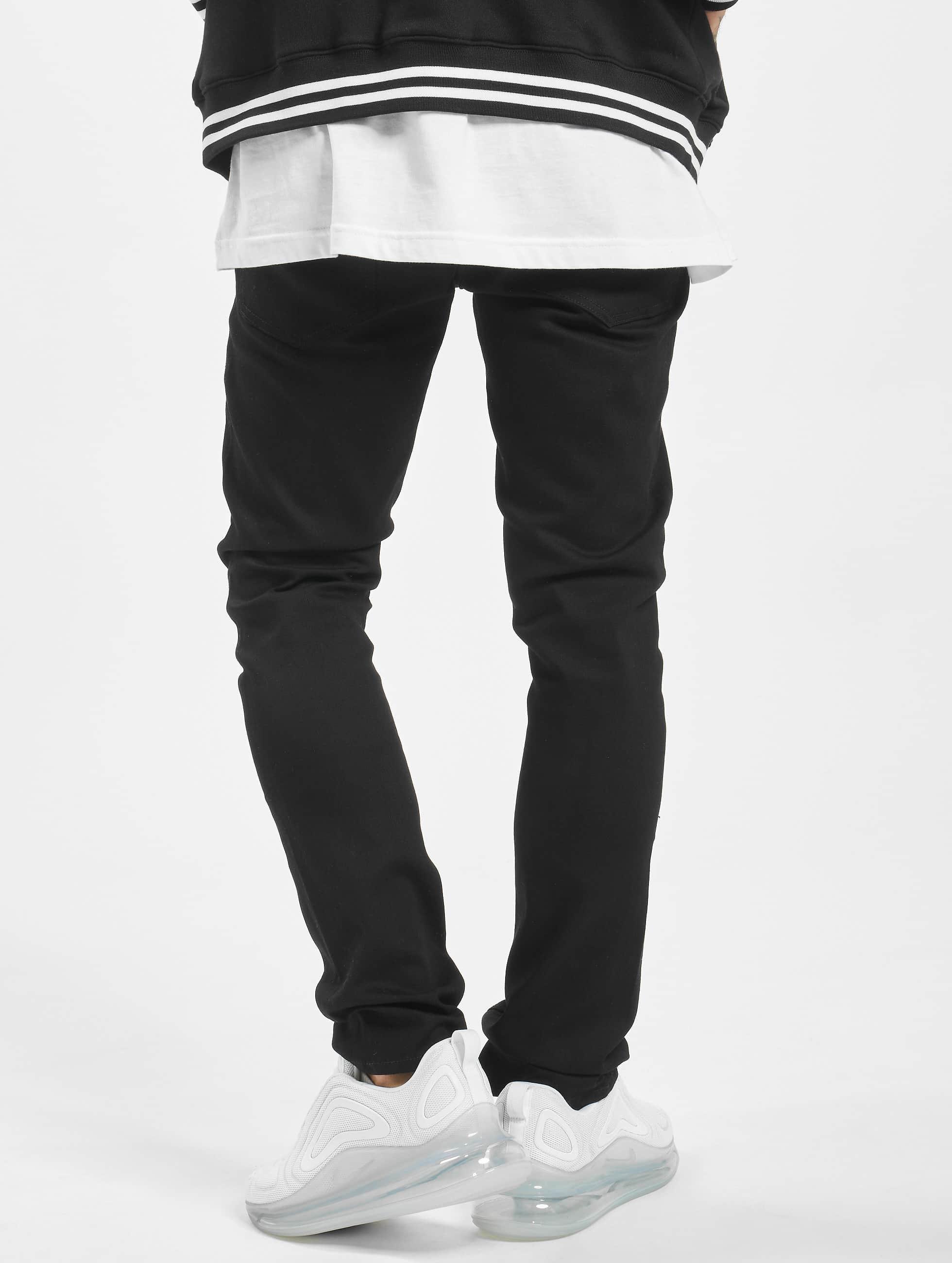Volcom Облегающие джинсы 2x4 Denim черный