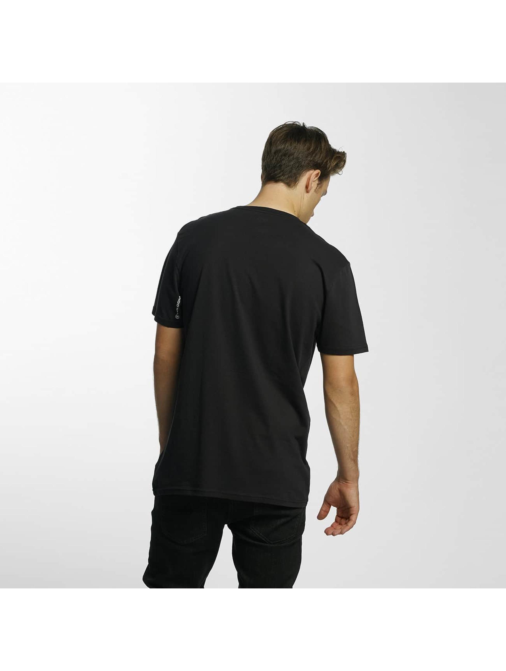 Volcom Camiseta Line Euro Basic negro