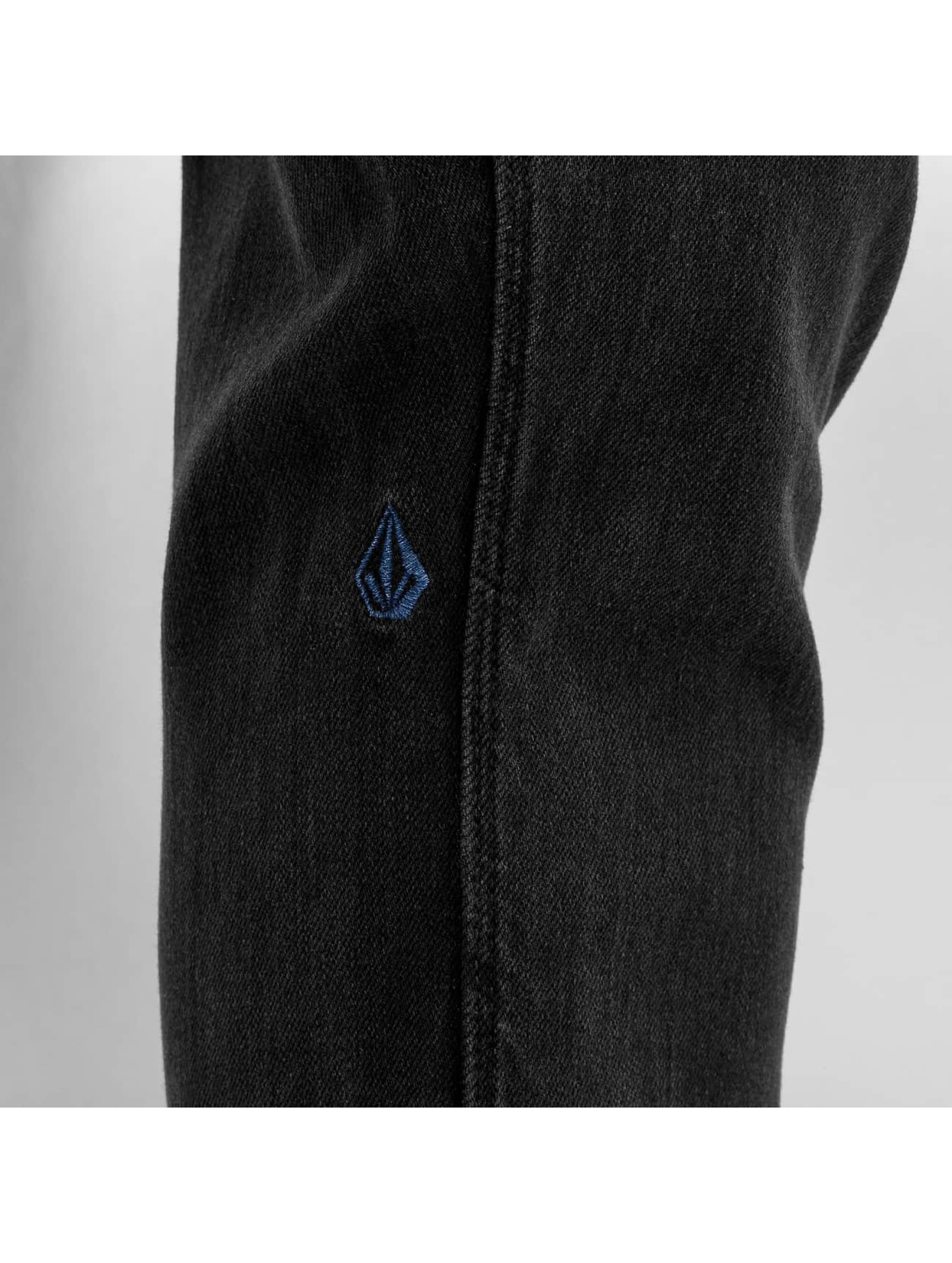 Volcom Dżinsy straight fit Vorta Denim czarny