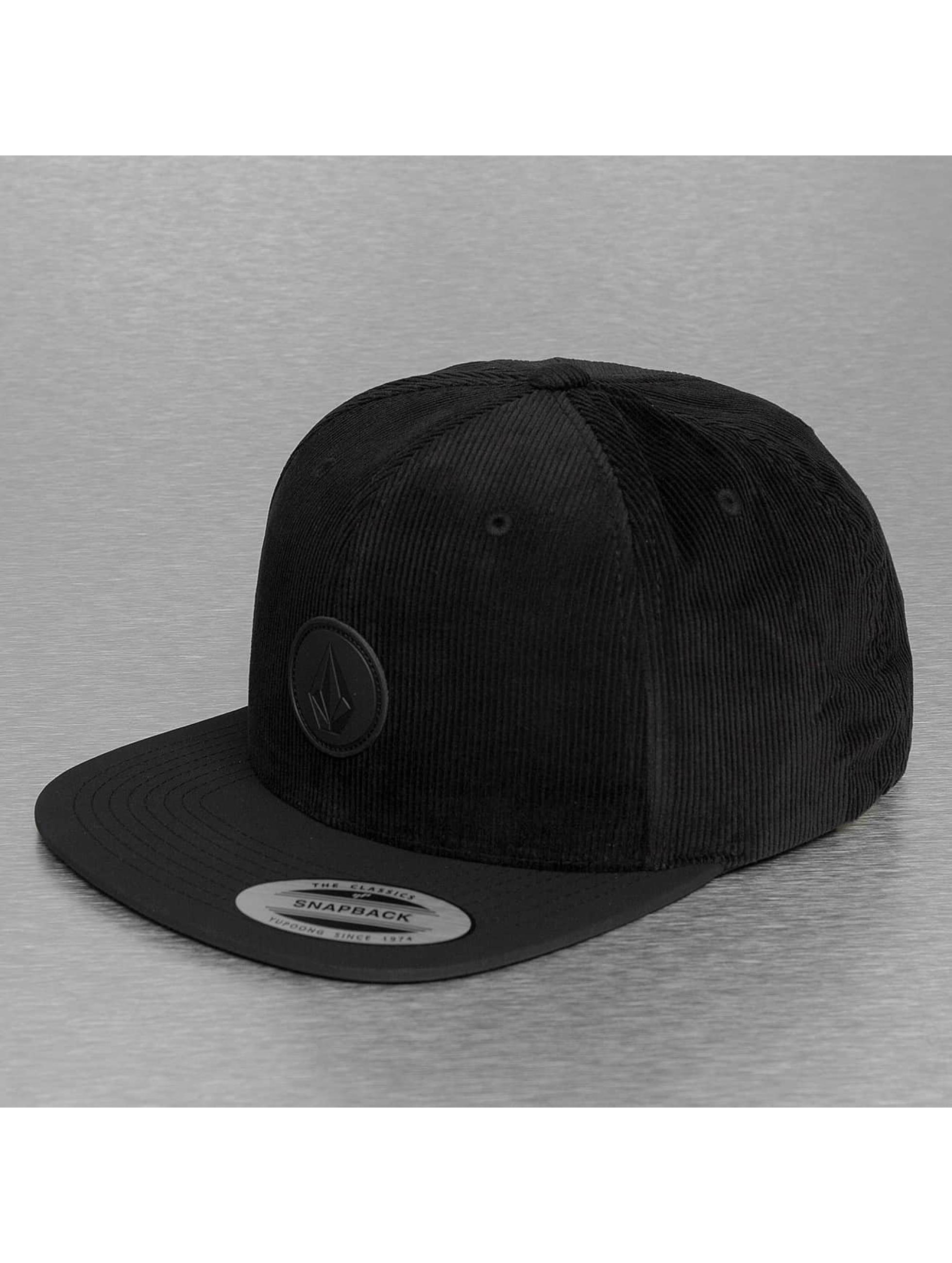 Volcom snapback cap Quarter Fabric zwart