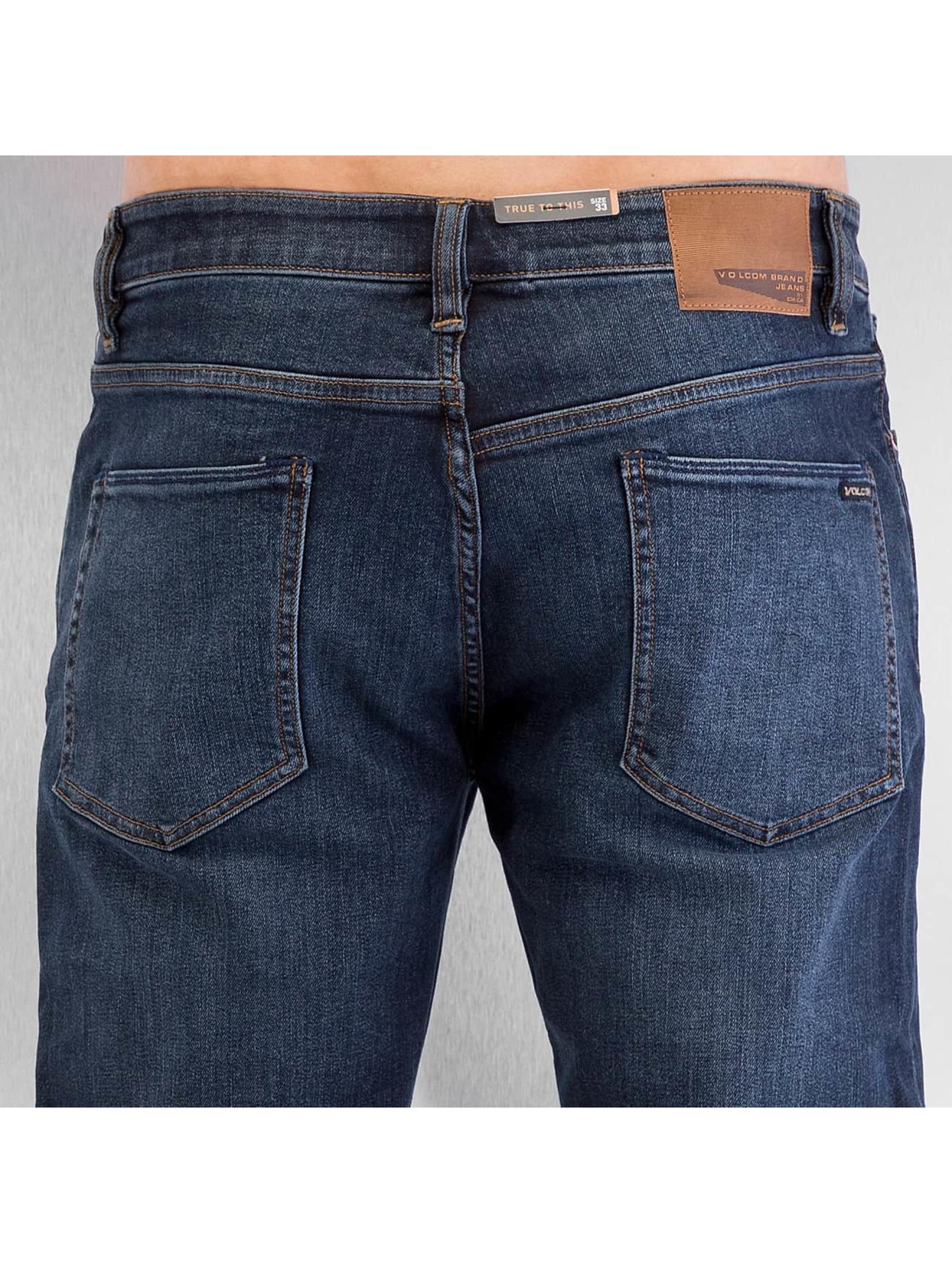 Volcom Straight Fit Jeans Solver Denim blå