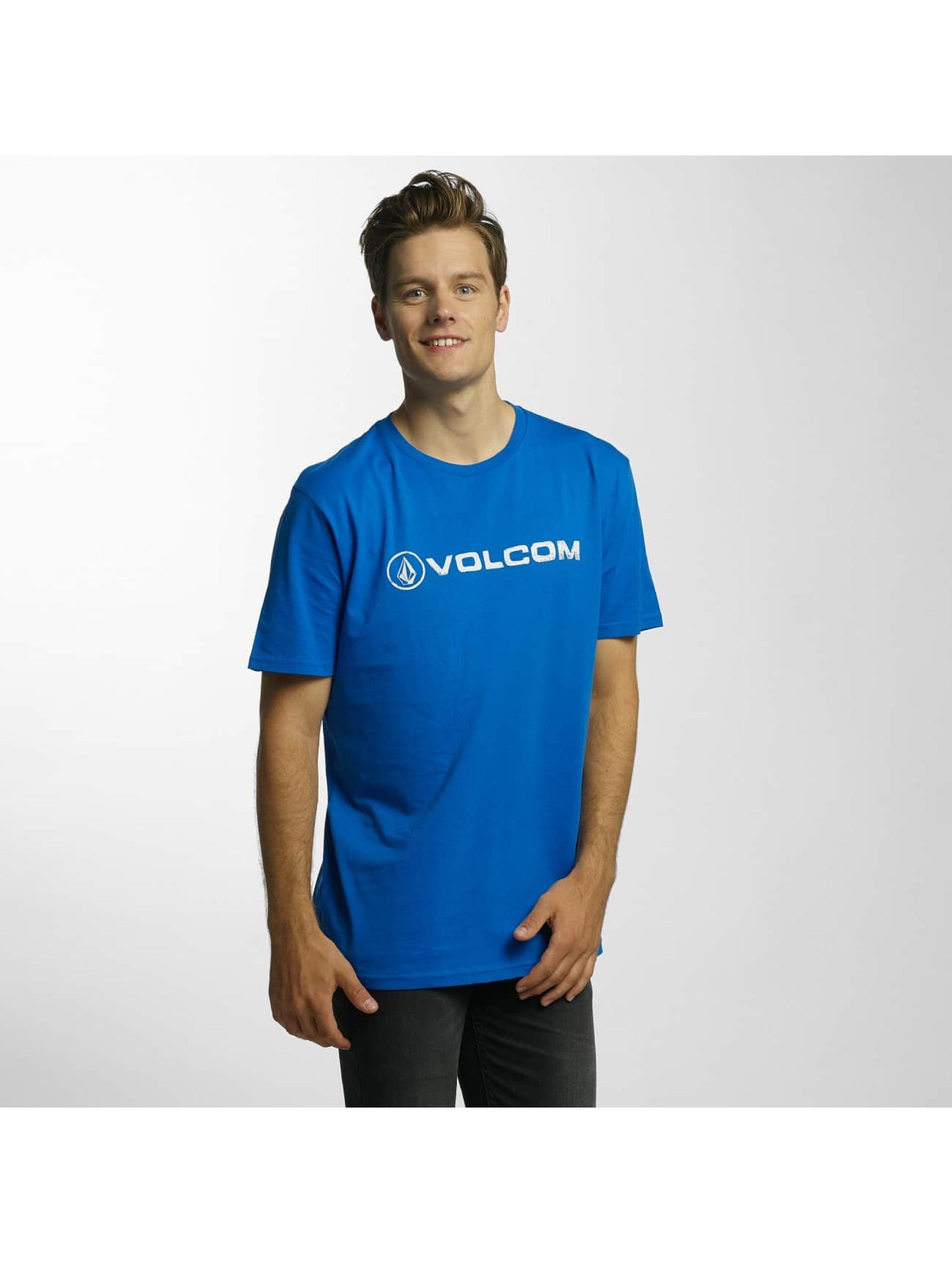 Volcom T-Shirt Line Euro Basic bleu