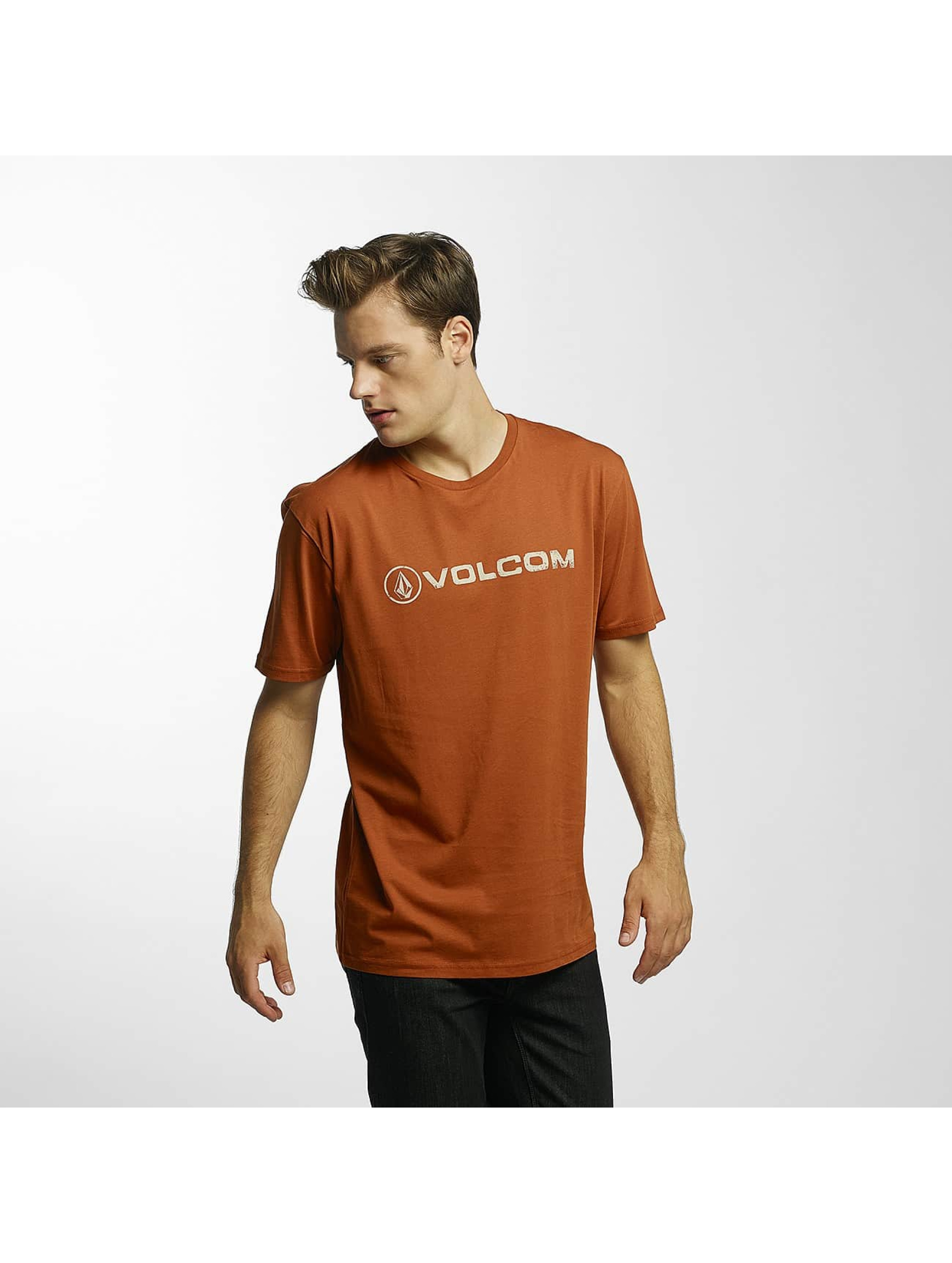Volcom T-Shirt Line Euro Basic brown